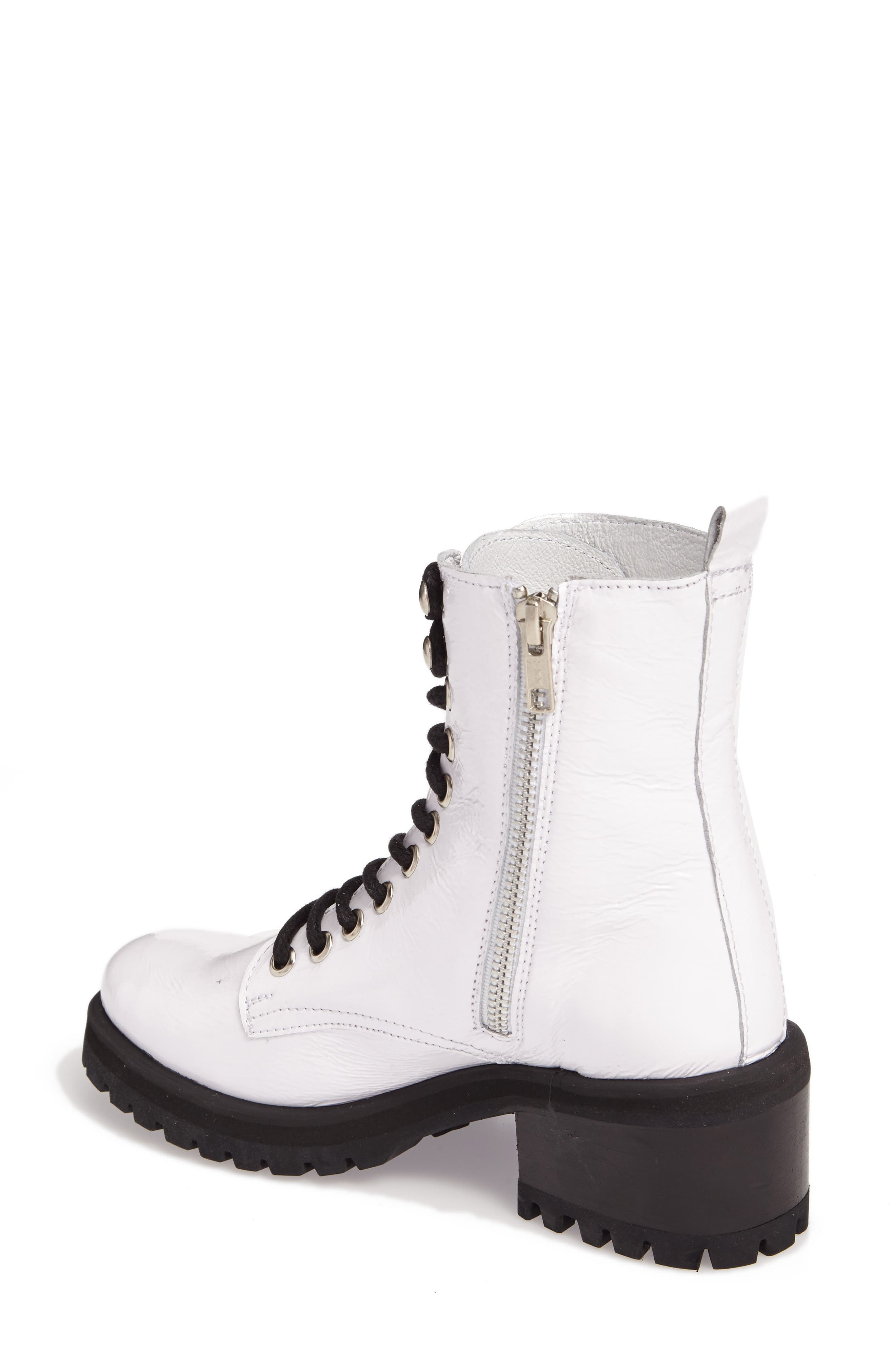 Geneva Bootie,                             Alternate thumbnail 2, color,                             White Patent Leather