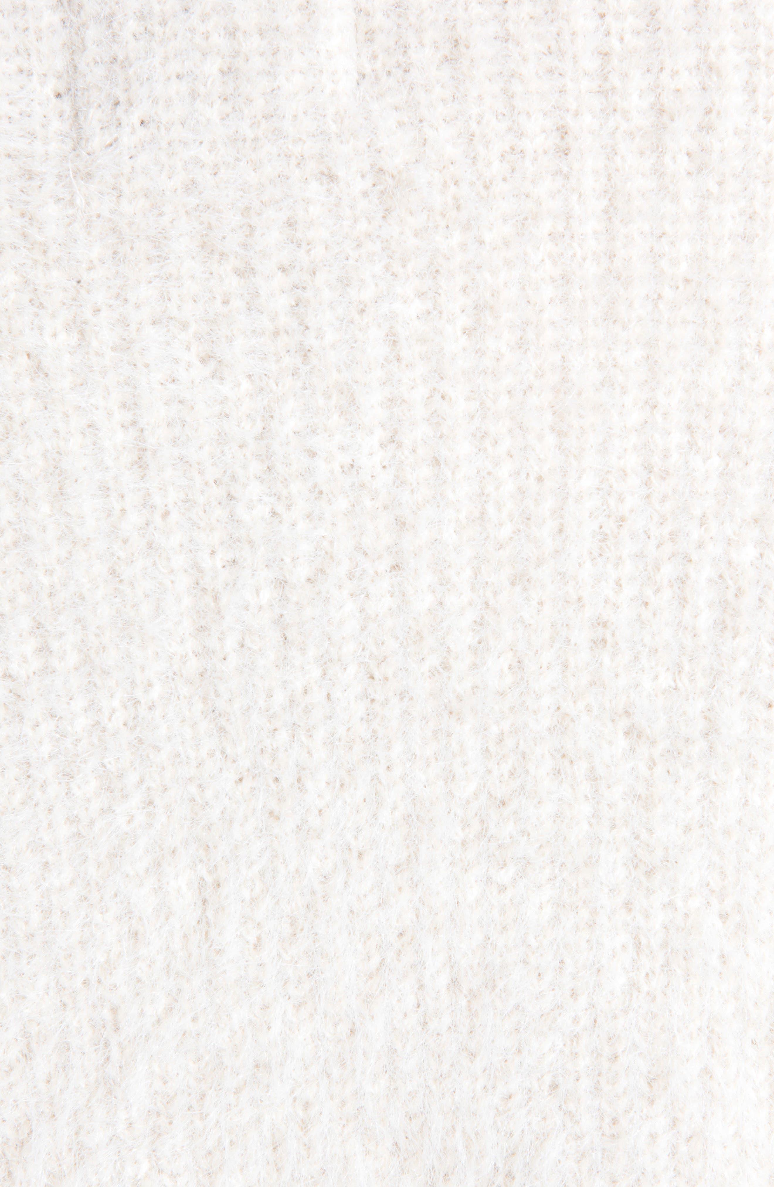 Fredrica Faux Fur Collar Knit Sweater,                             Alternate thumbnail 4, color,                             Cream