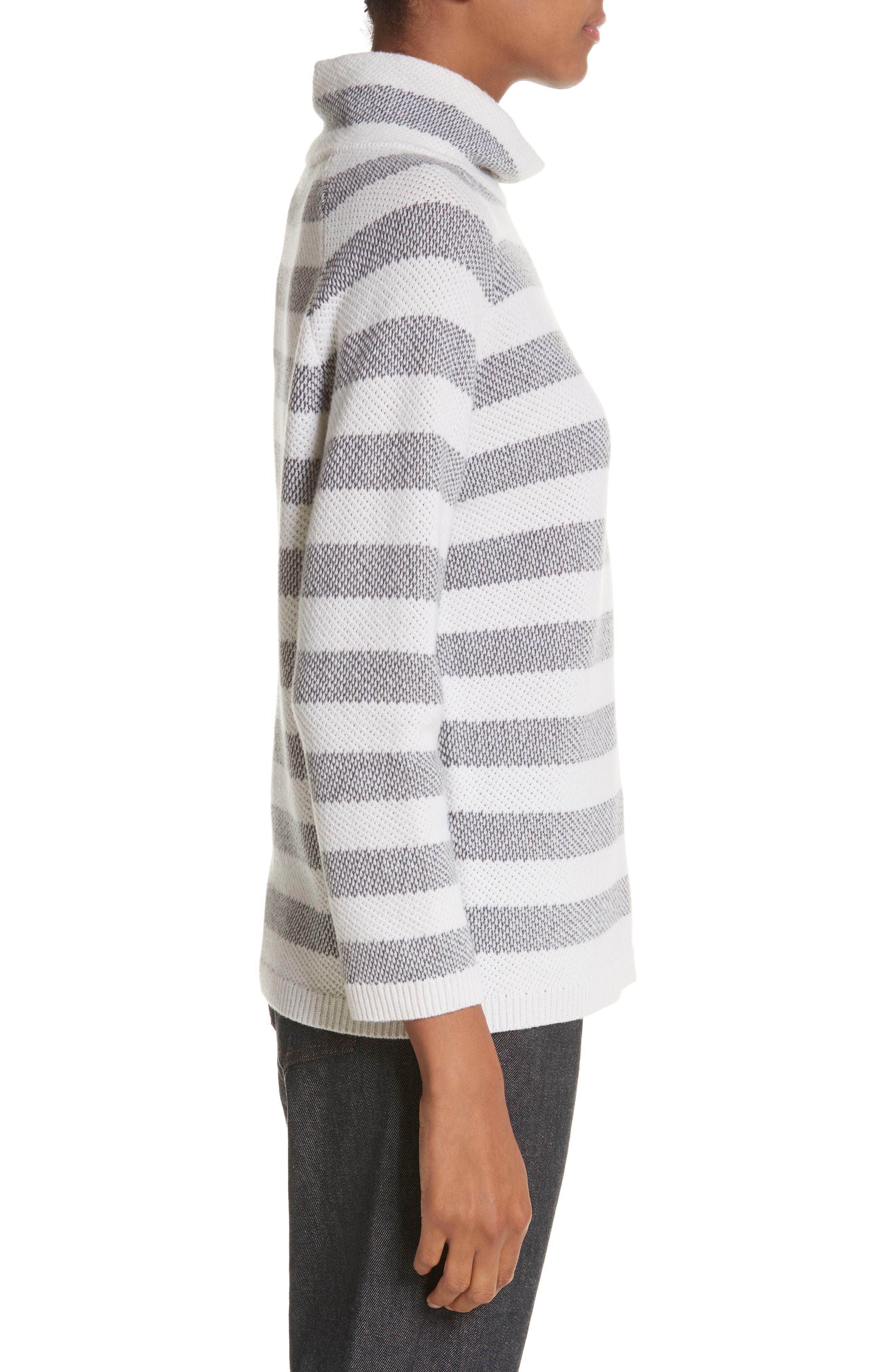 Osvaldo Cashmere Sweater,                             Alternate thumbnail 3, color,                             Medium Grey