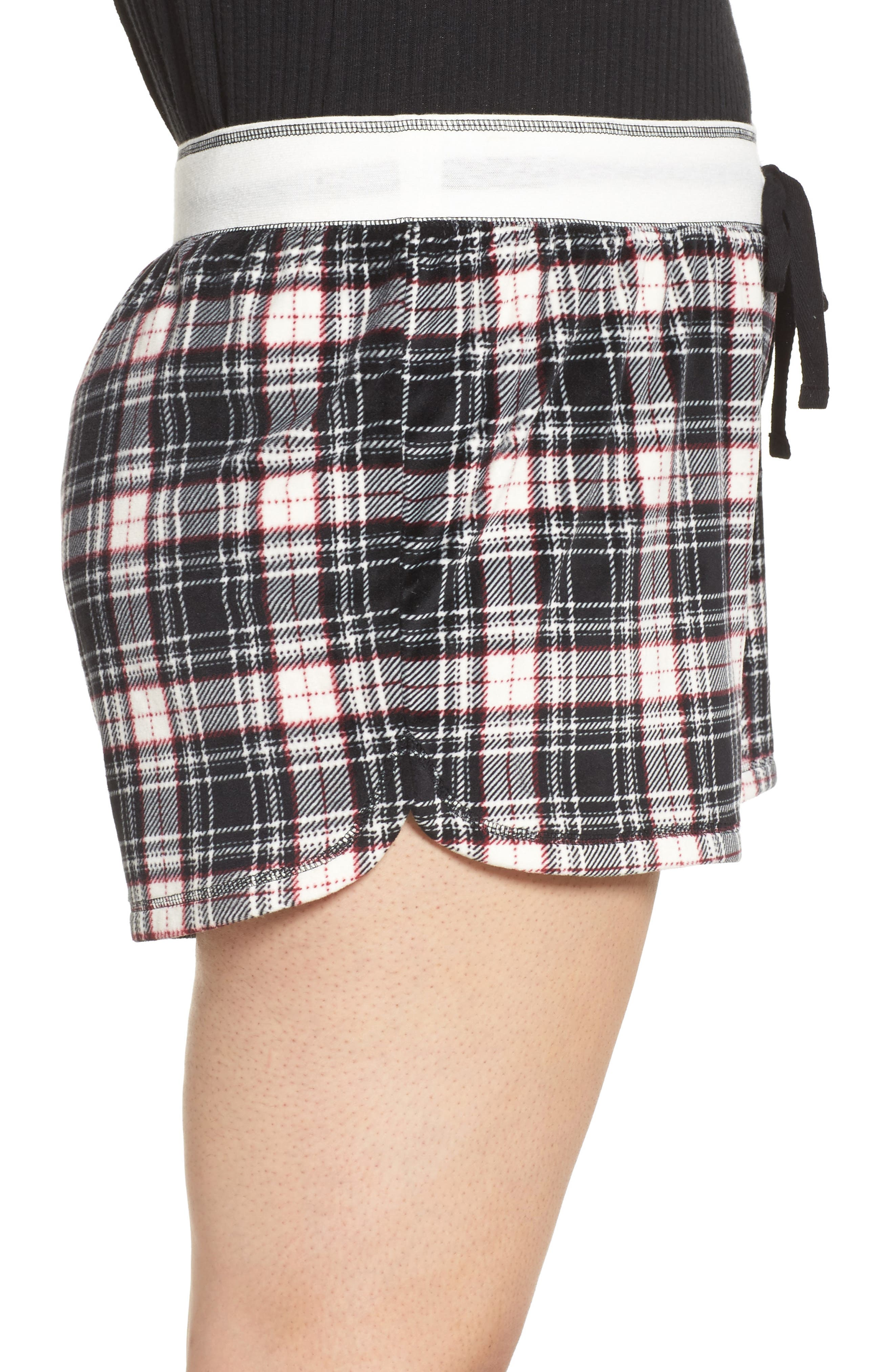 Alternate Image 3  - PJ Salvage Velour Shorts (Plus Size)