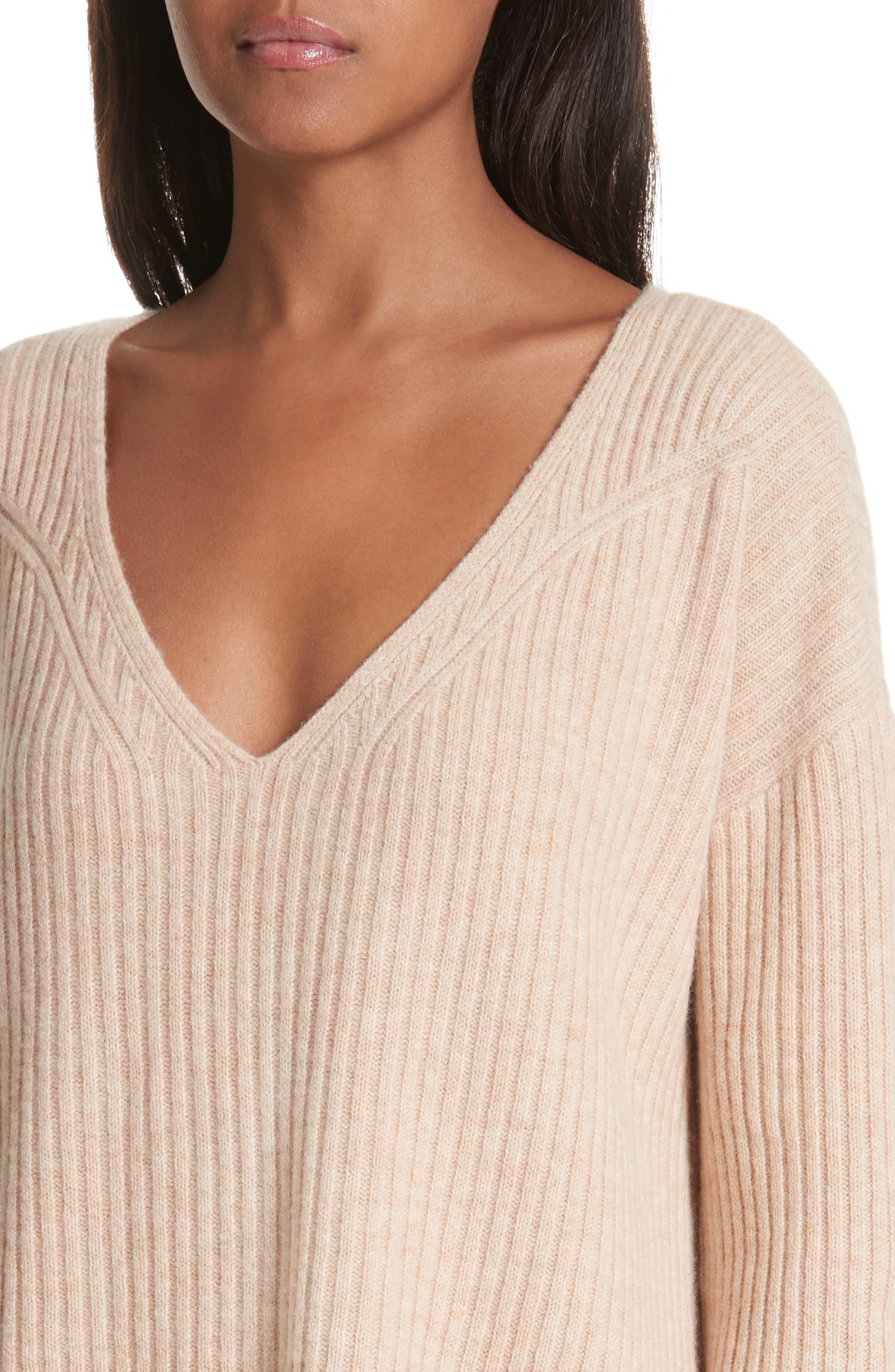 Mitchell Merino Wool Sweater,                             Alternate thumbnail 4, color,                             Oat