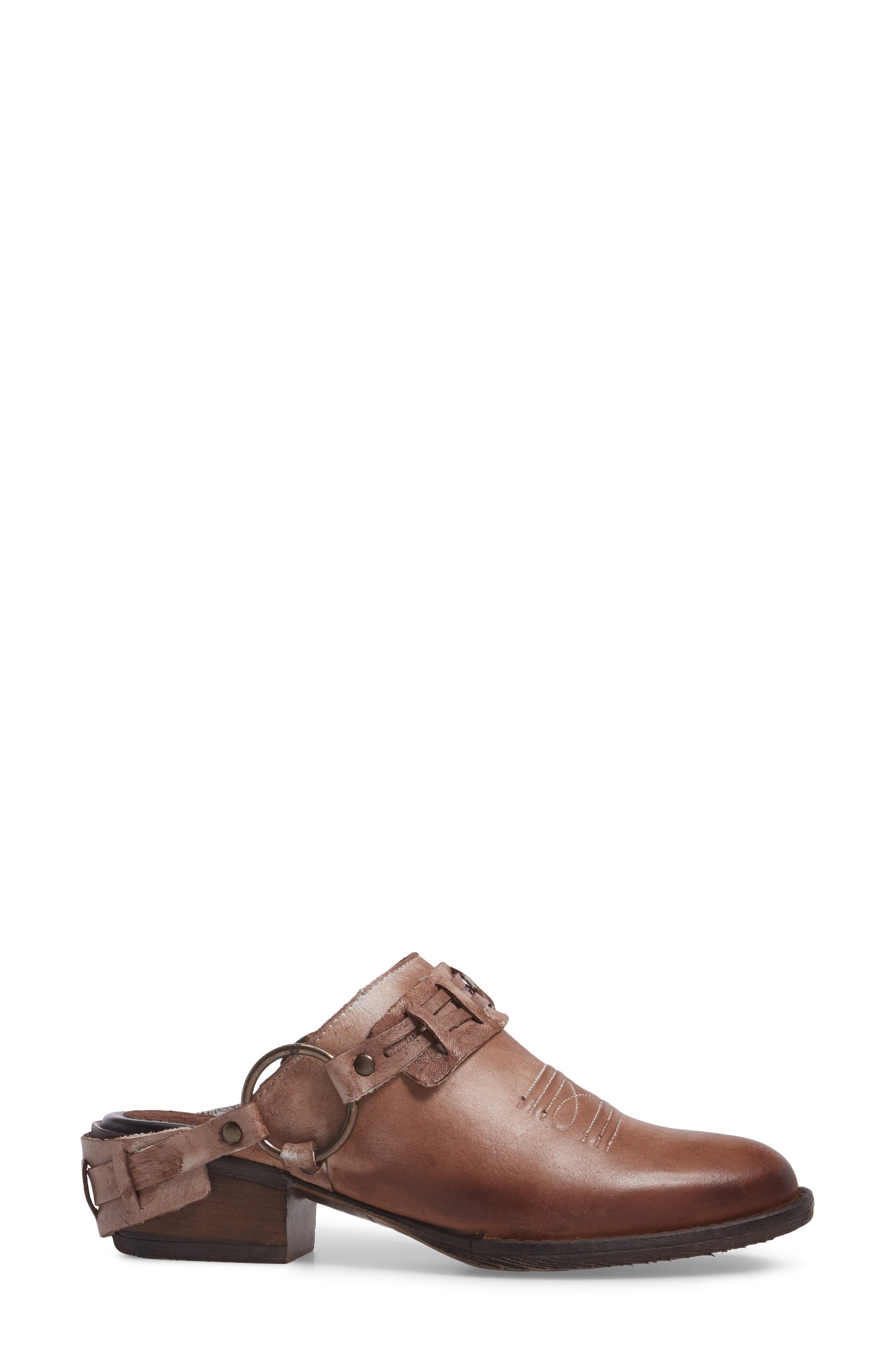 Eriko Western Harness Mule,                             Alternate thumbnail 3, color,                             Brown