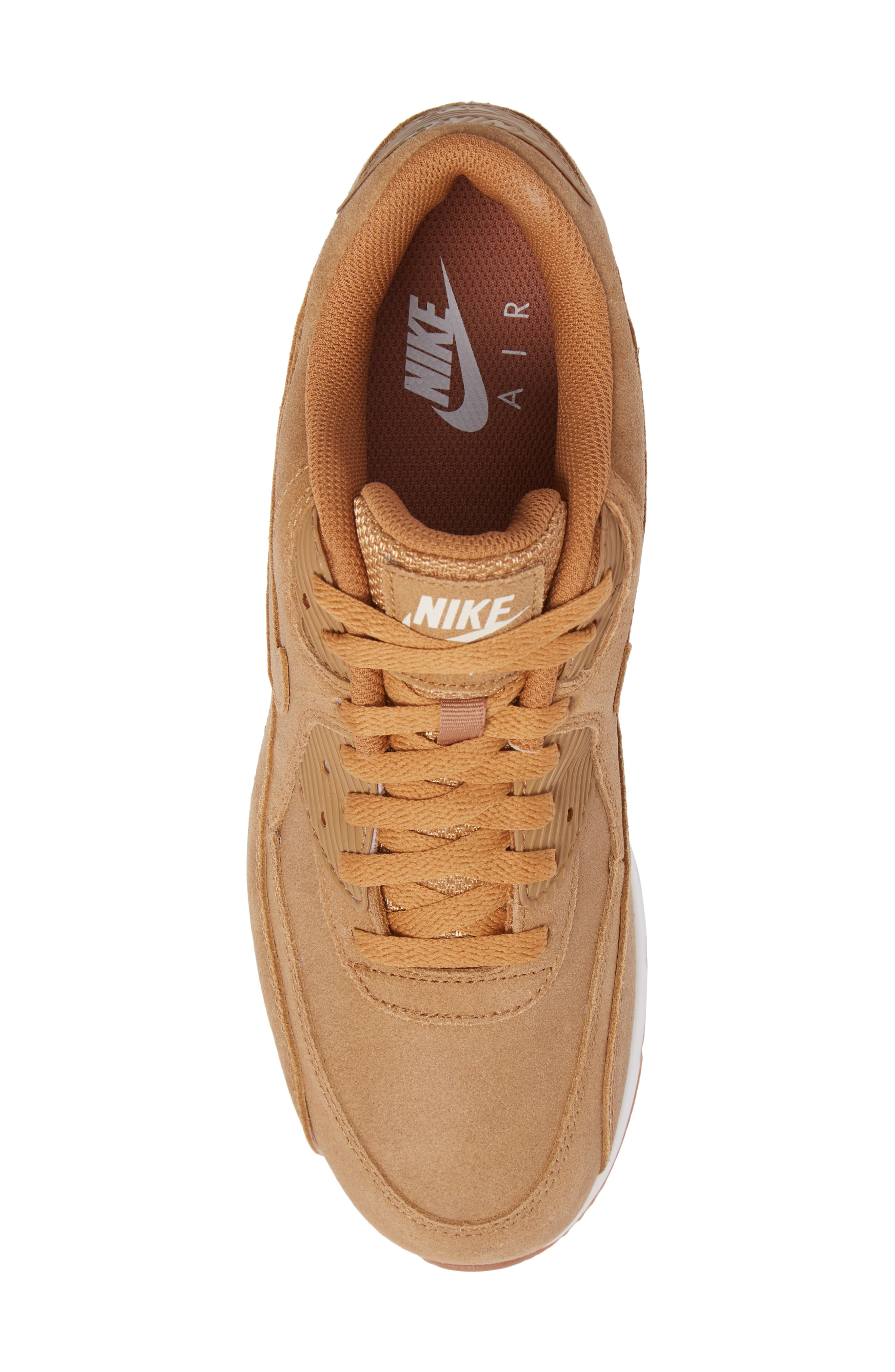 Air Max 90 Ultra 2.0 Sneaker,                             Alternate thumbnail 5, color,                             Flax/Flax/Sail/Gum Med Brown