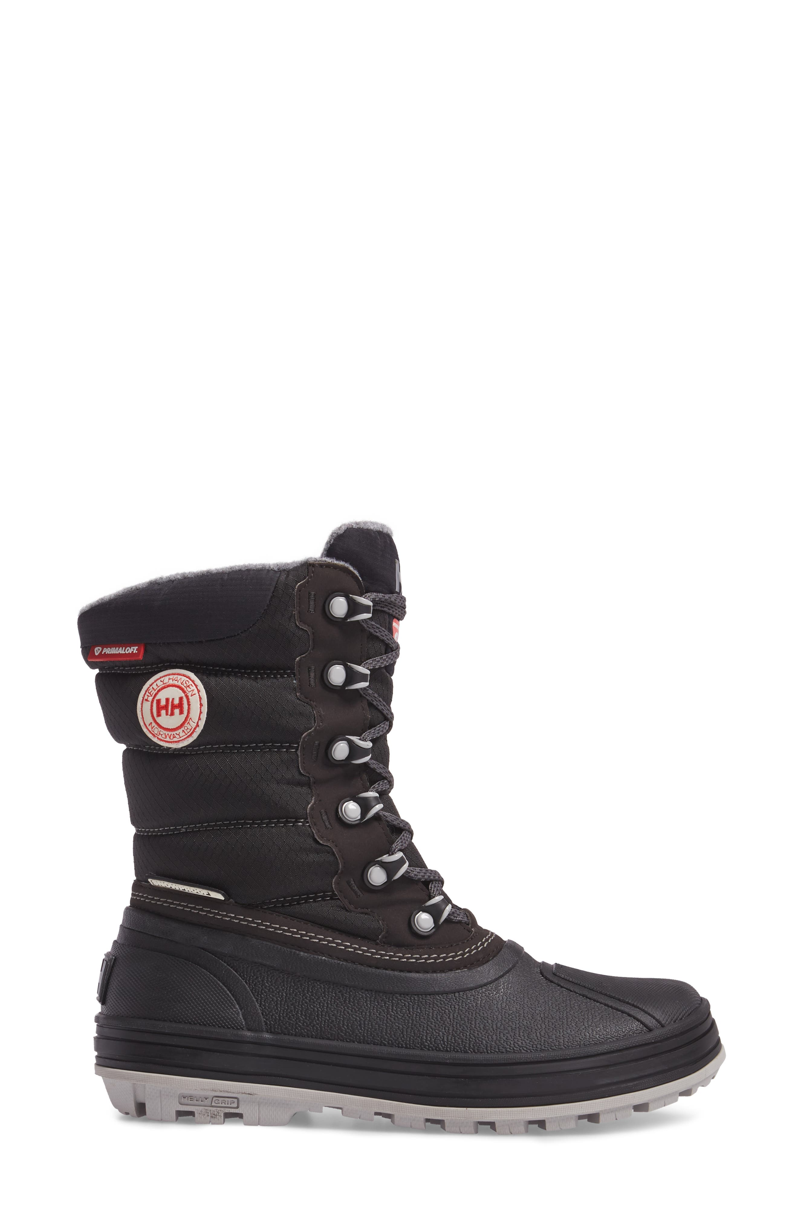 Tundra CWB Snow Boot,                             Alternate thumbnail 3, color,                             Jet Black