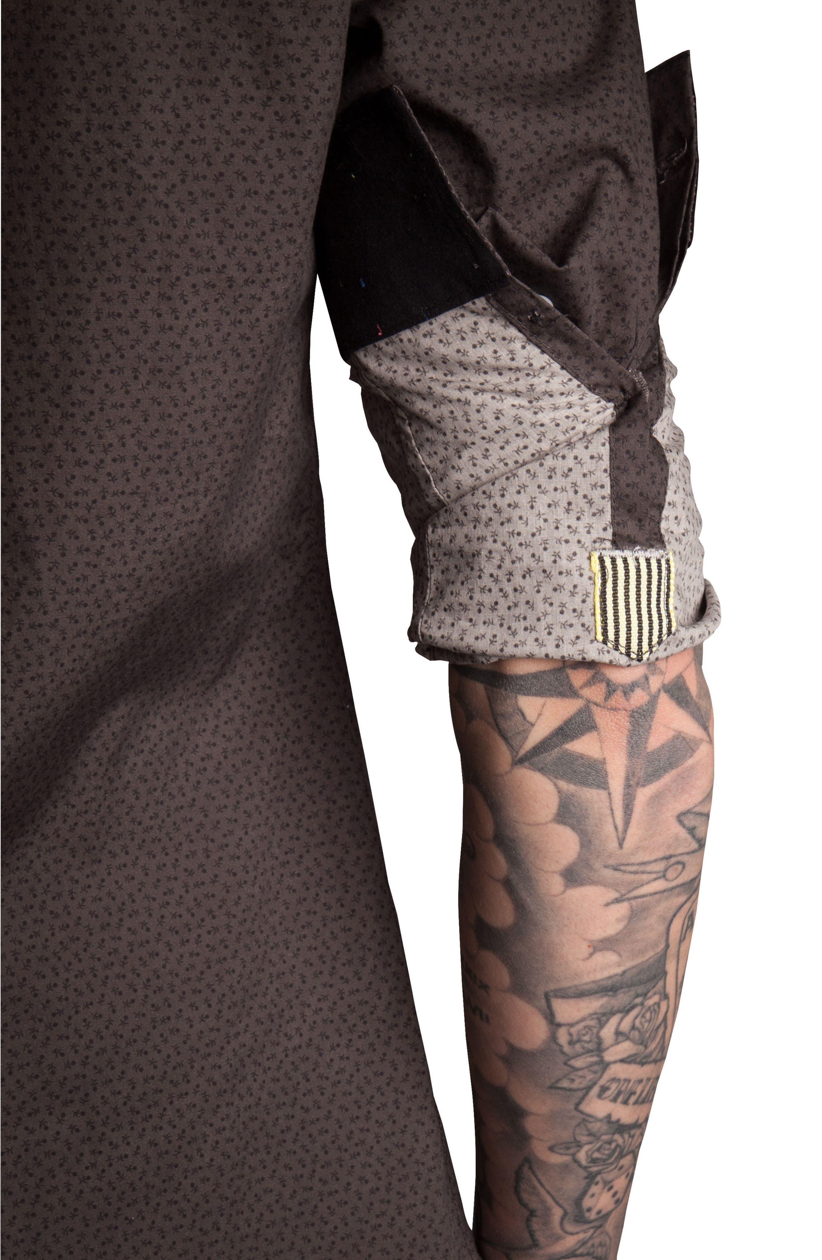 Alternate Image 3  - Descendant of Thieves Stick Figure Print Sport Shirt