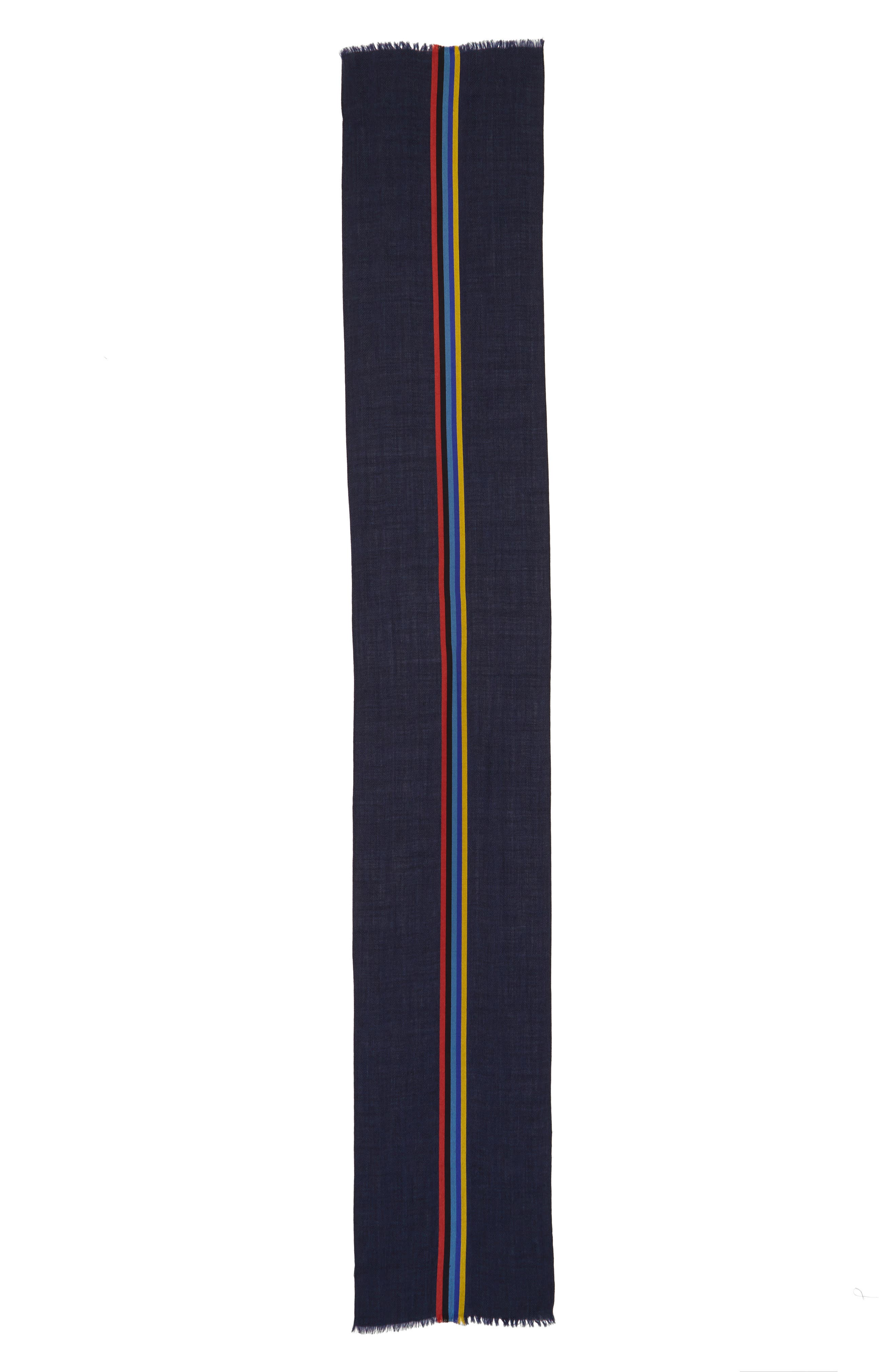 Alternate Image 2  - Paul Smith Stripe Wool Blend Scarf