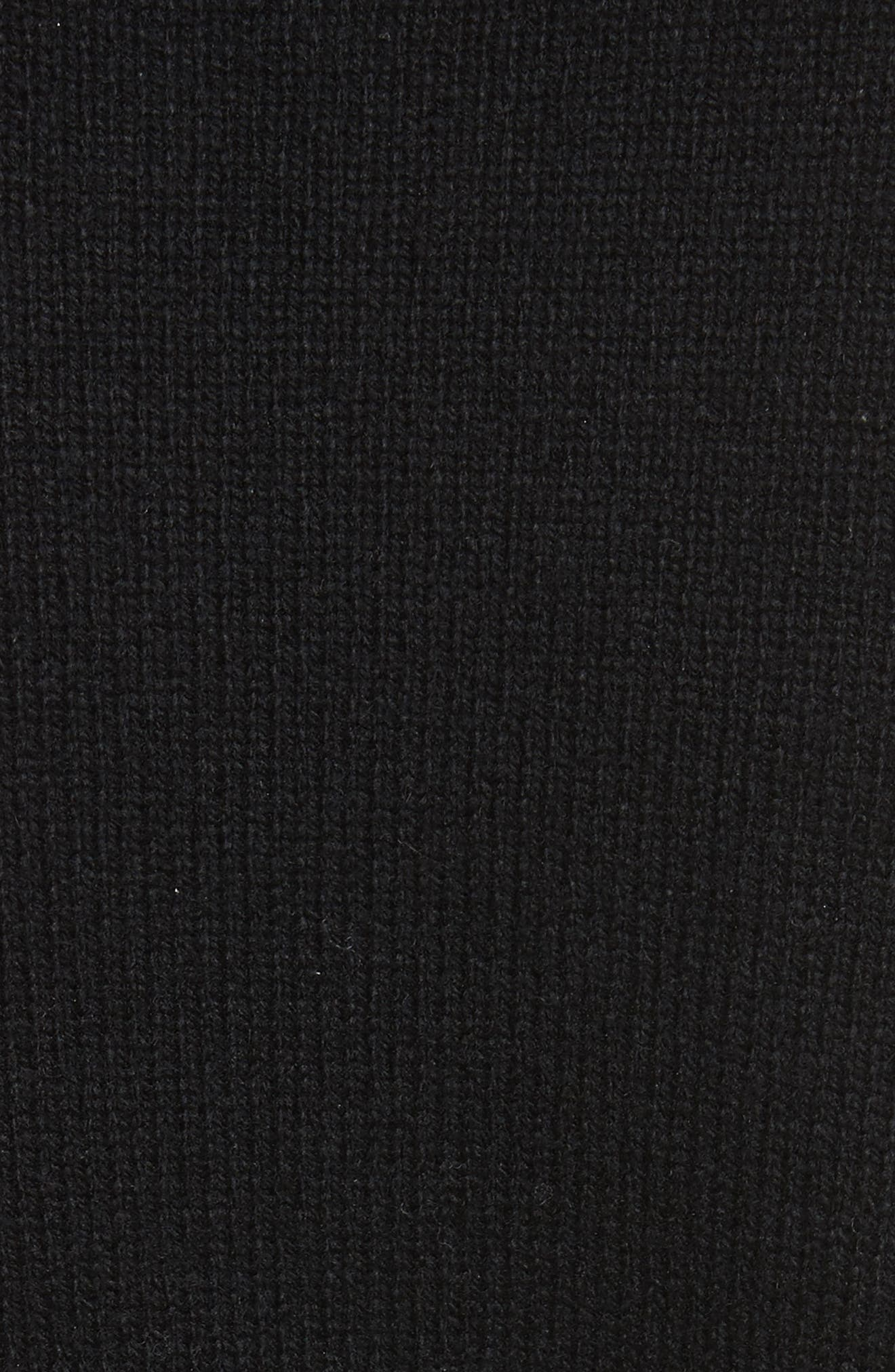 Lace Mix Cardigan,                             Alternate thumbnail 5, color,                             Black