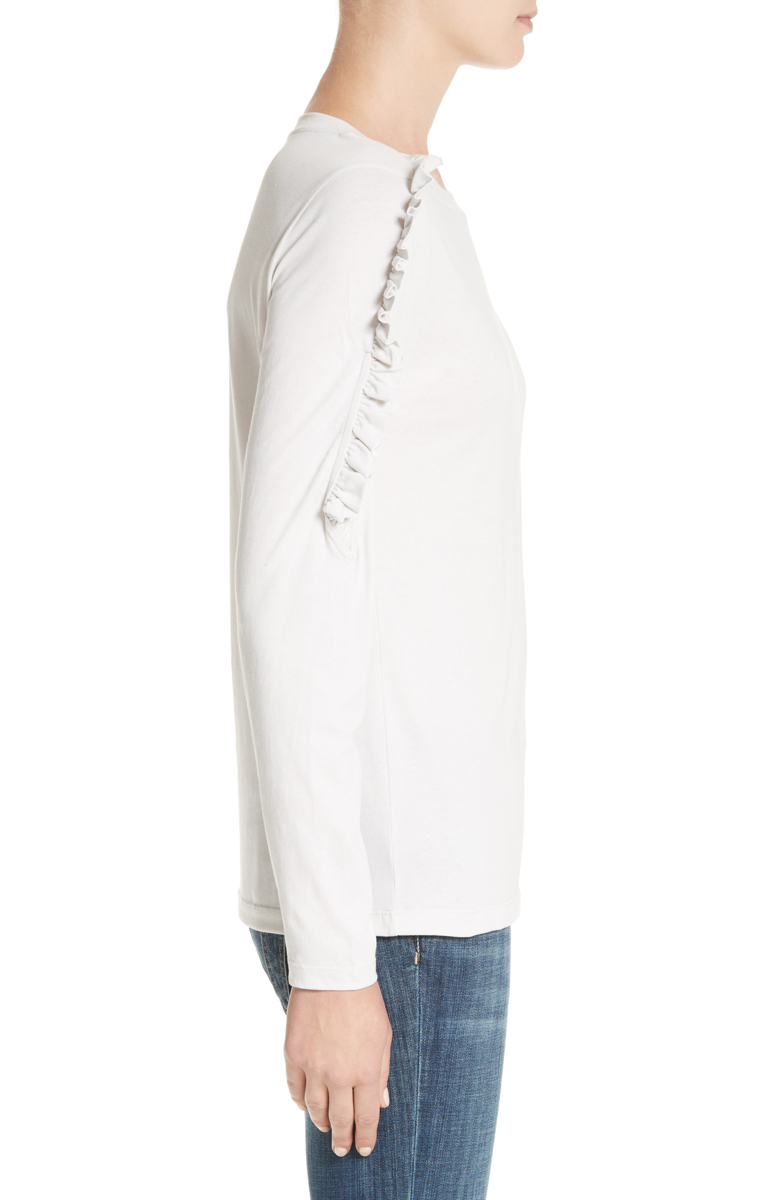 Alternate Image 3  - Burberry Uima Ruffle Cotton Top