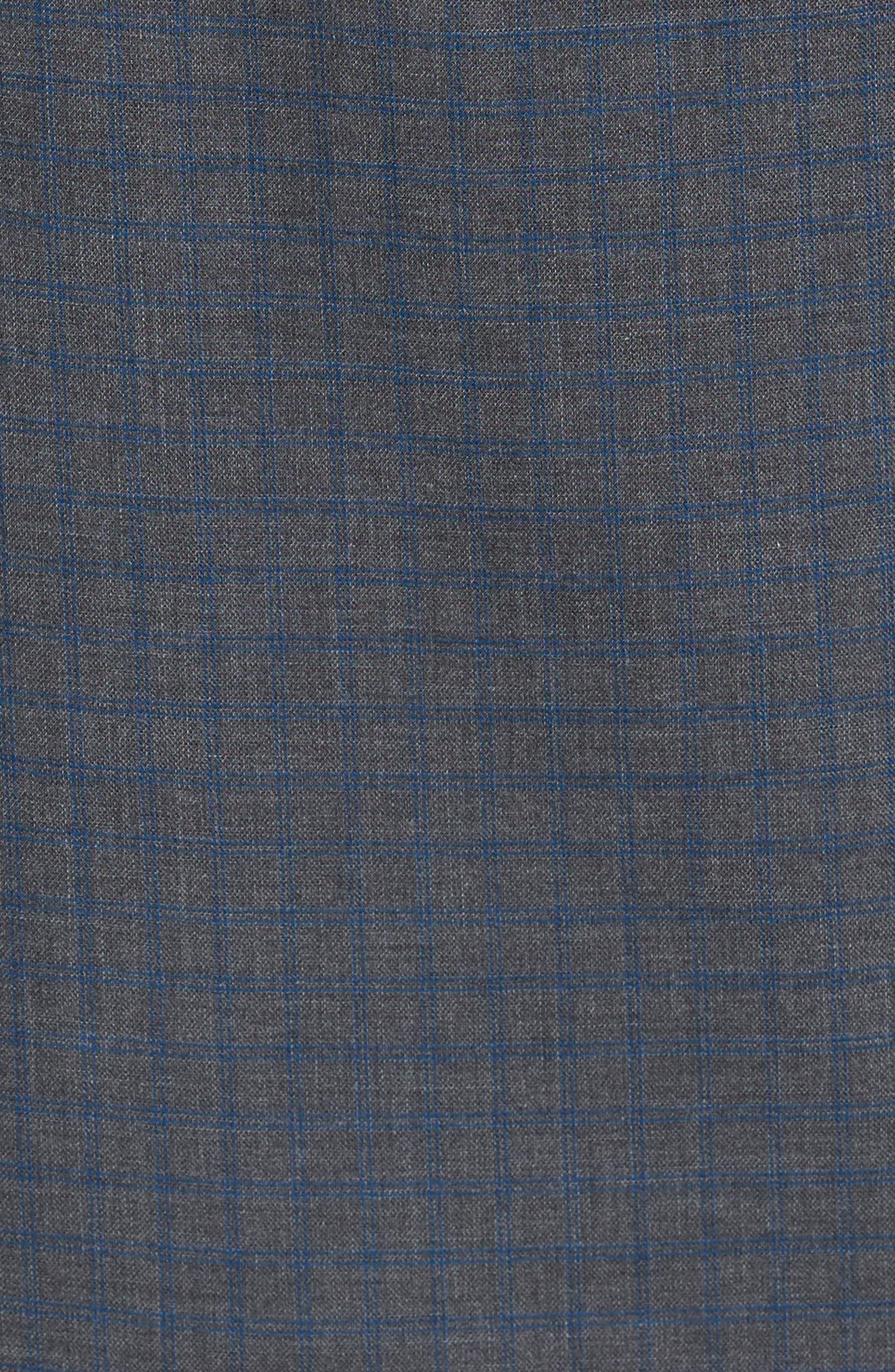 Kirby Slim Fit Check Sport Shirt,                             Alternate thumbnail 5, color,                             Grey/ Cobalt