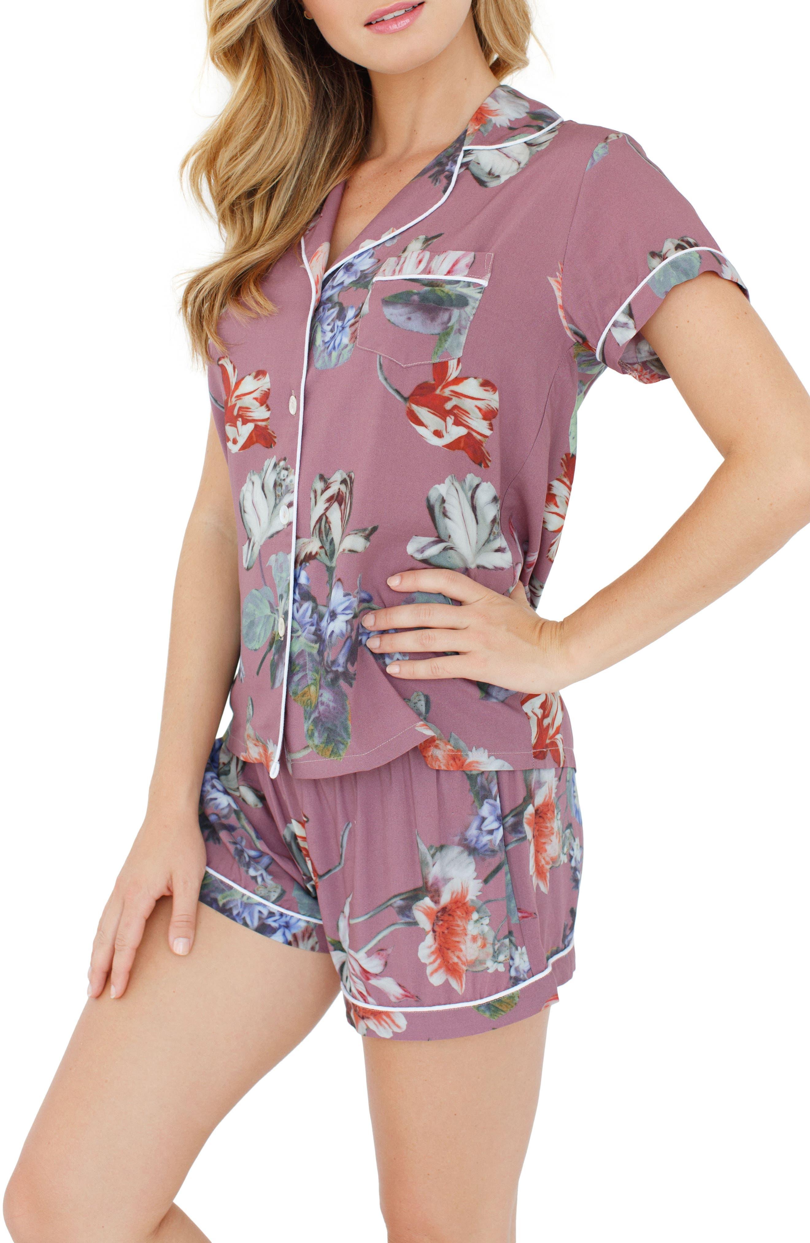 Plum Pretty Sugar Floral Short Pajamas