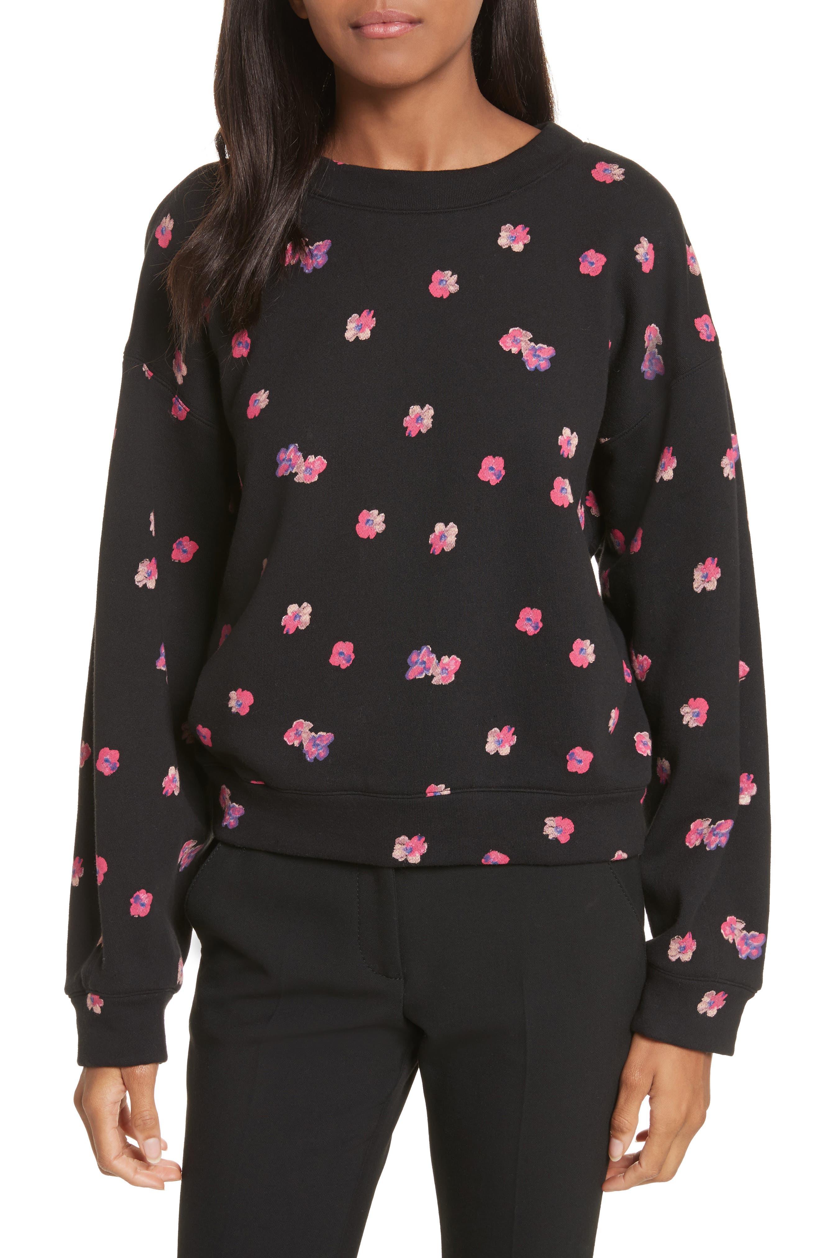 Rebecca Taylor Floriana Floral Sweatshirt