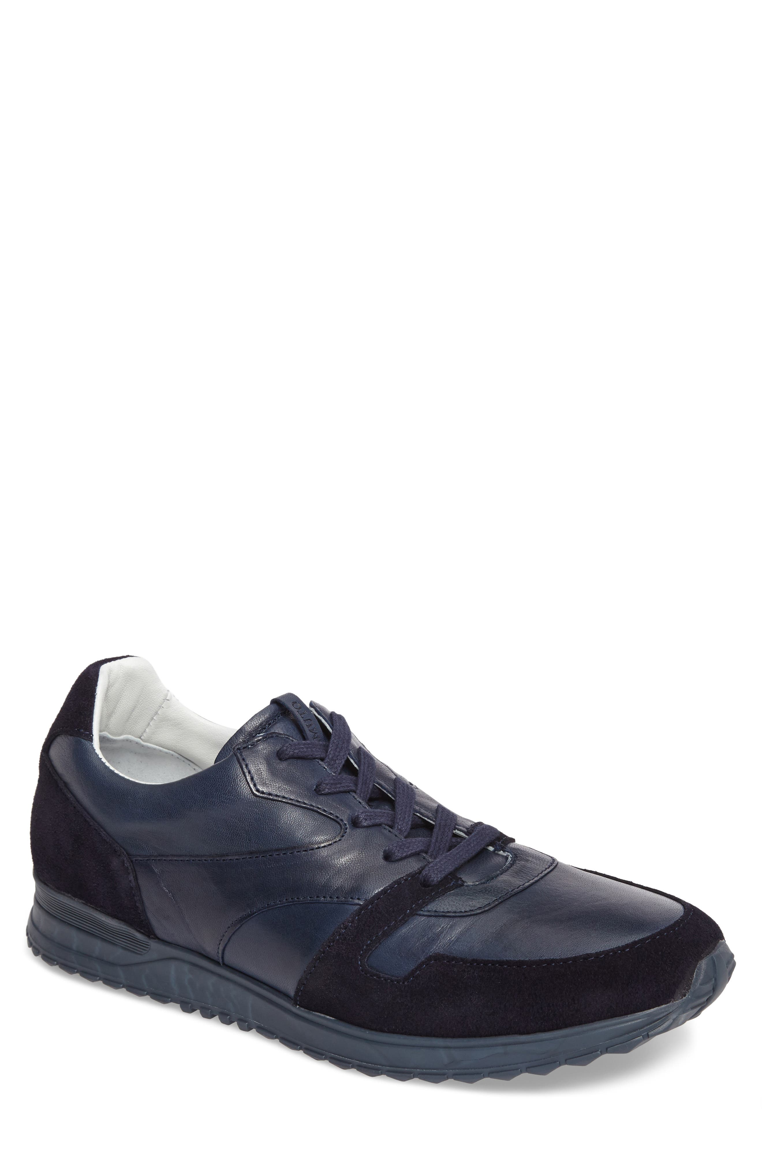 Foren Sneaker,                         Main,                         color, Marino Leather/ Suede