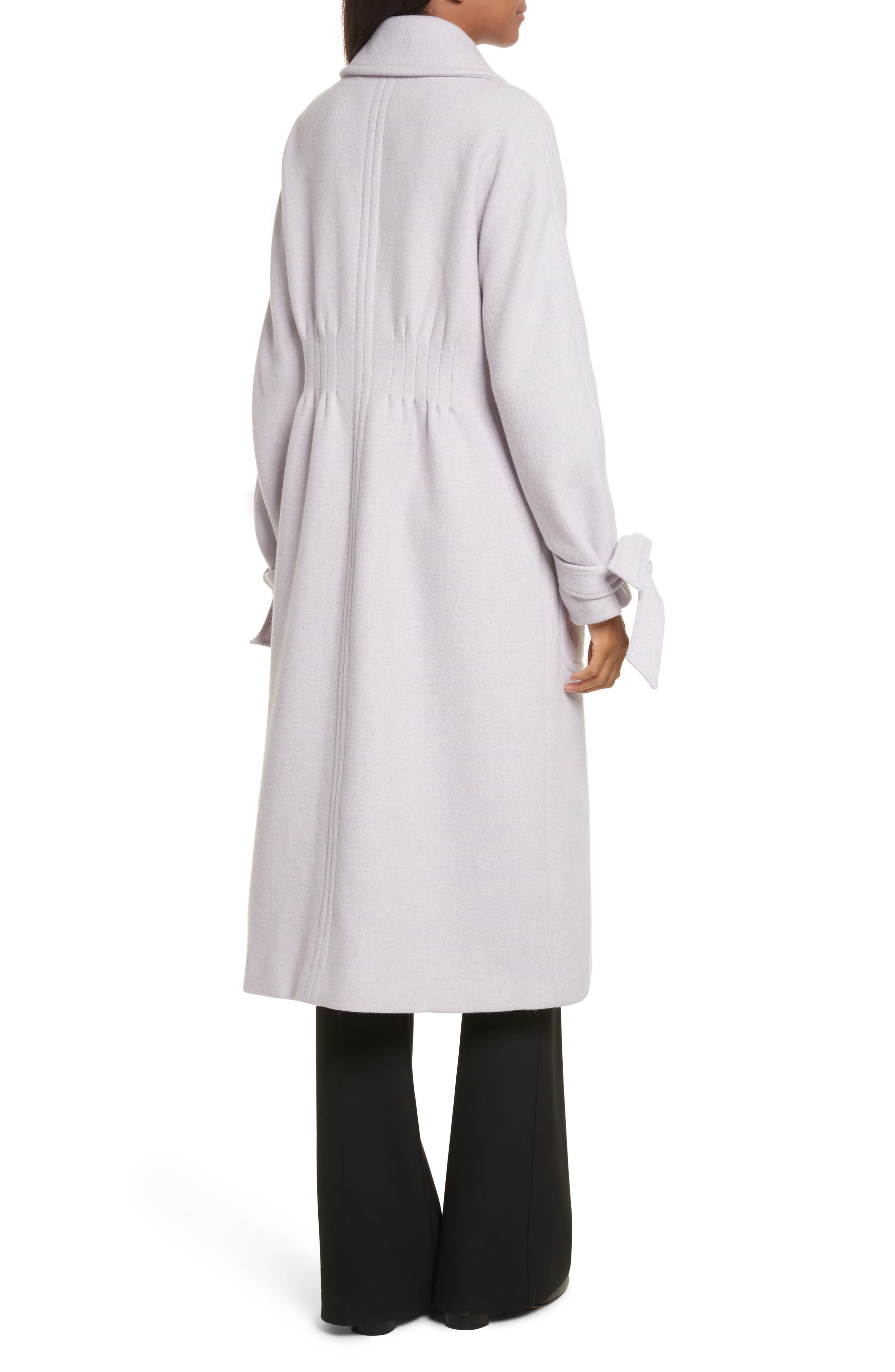 Wool Blend Melton Coat,                             Alternate thumbnail 2, color,                             Dusty Lavender