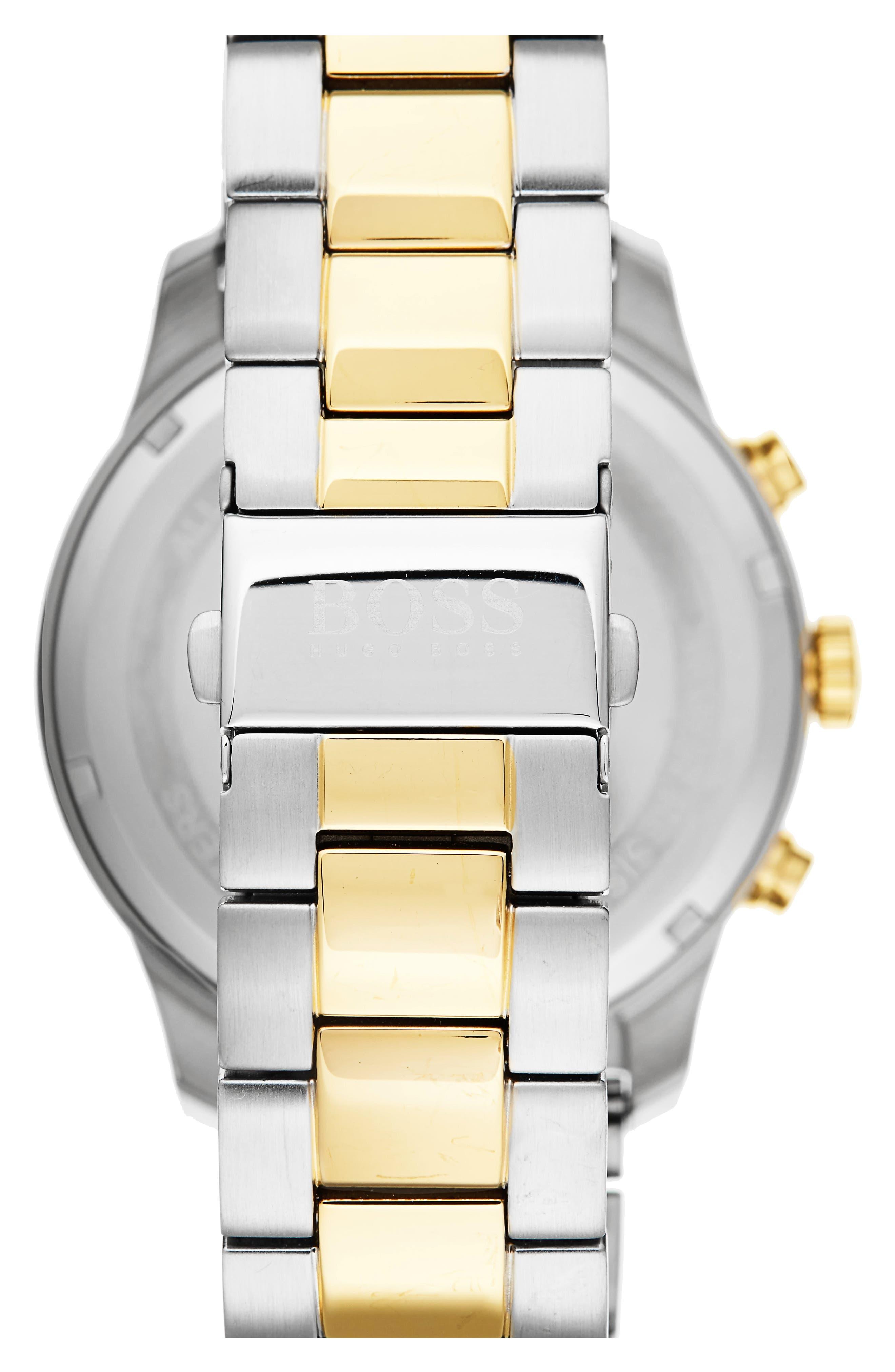 Professional Chronograph Bracelet Watch, 42mm,                             Alternate thumbnail 2, color,                             Black/ Stainless