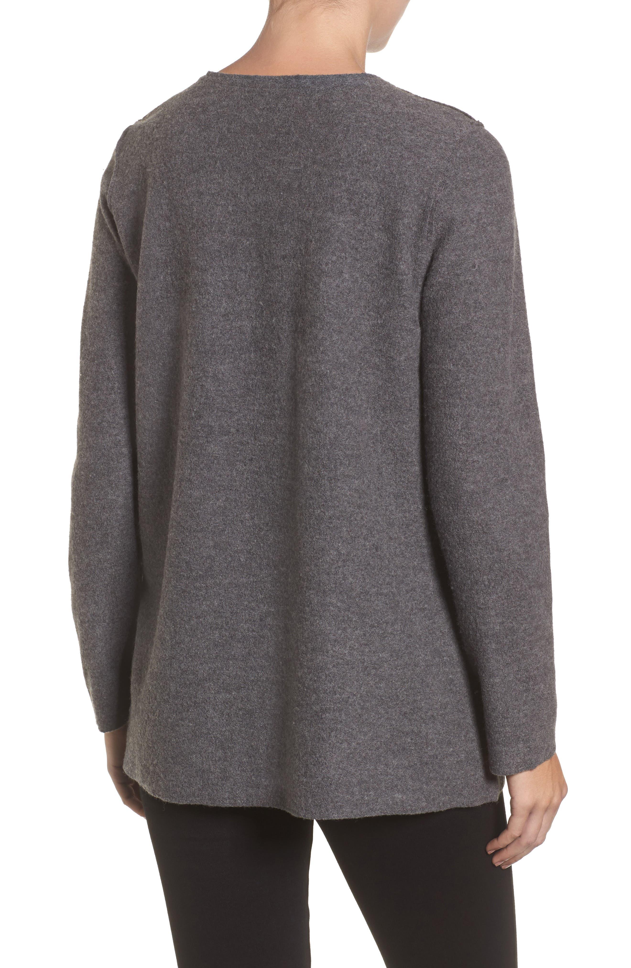 Alternate Image 2  - Eileen Fisher Boiled Merino Wool Top (Regular & Petite)