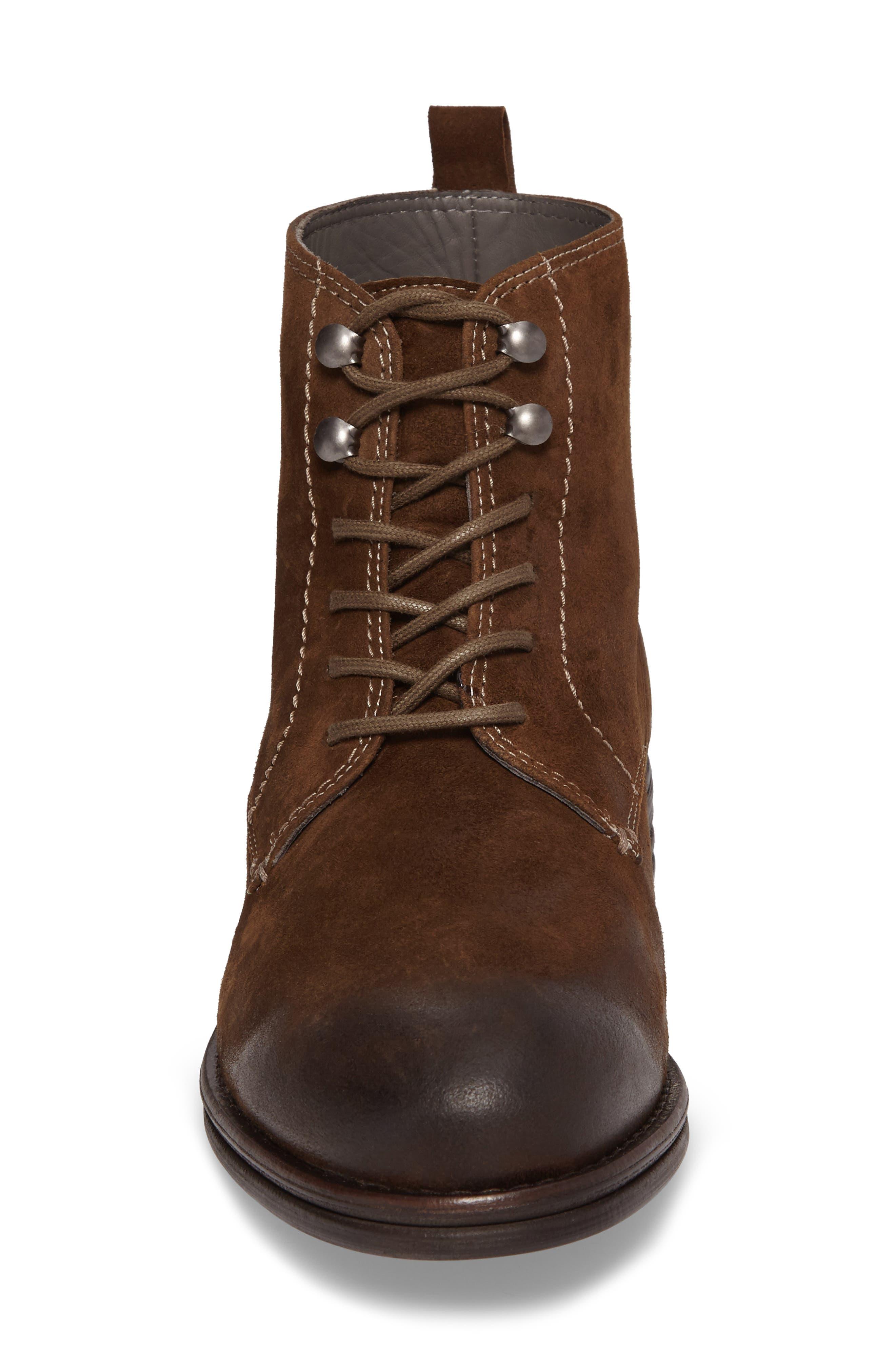 Cordie Plain Toe Boot,                             Alternate thumbnail 4, color,                             Oliva Suede
