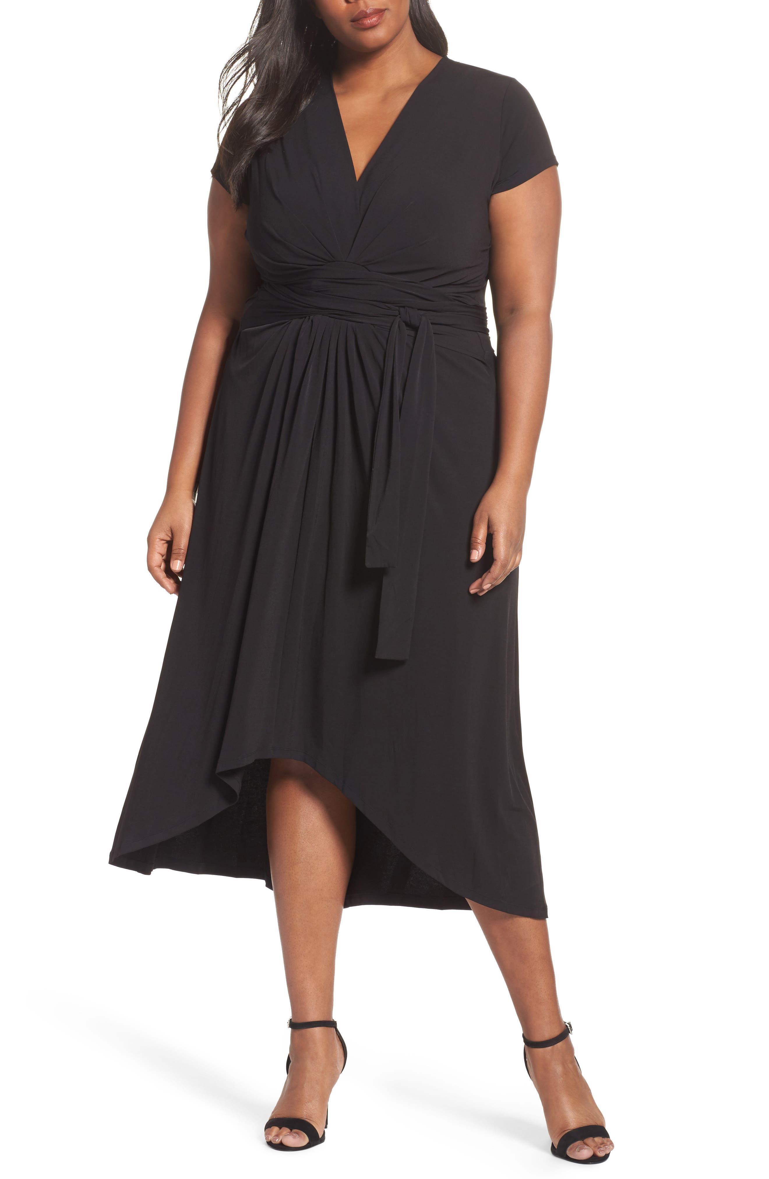 MICHAEL Michael Kors Jersey Wrap Maxi Dress (Plus Size)