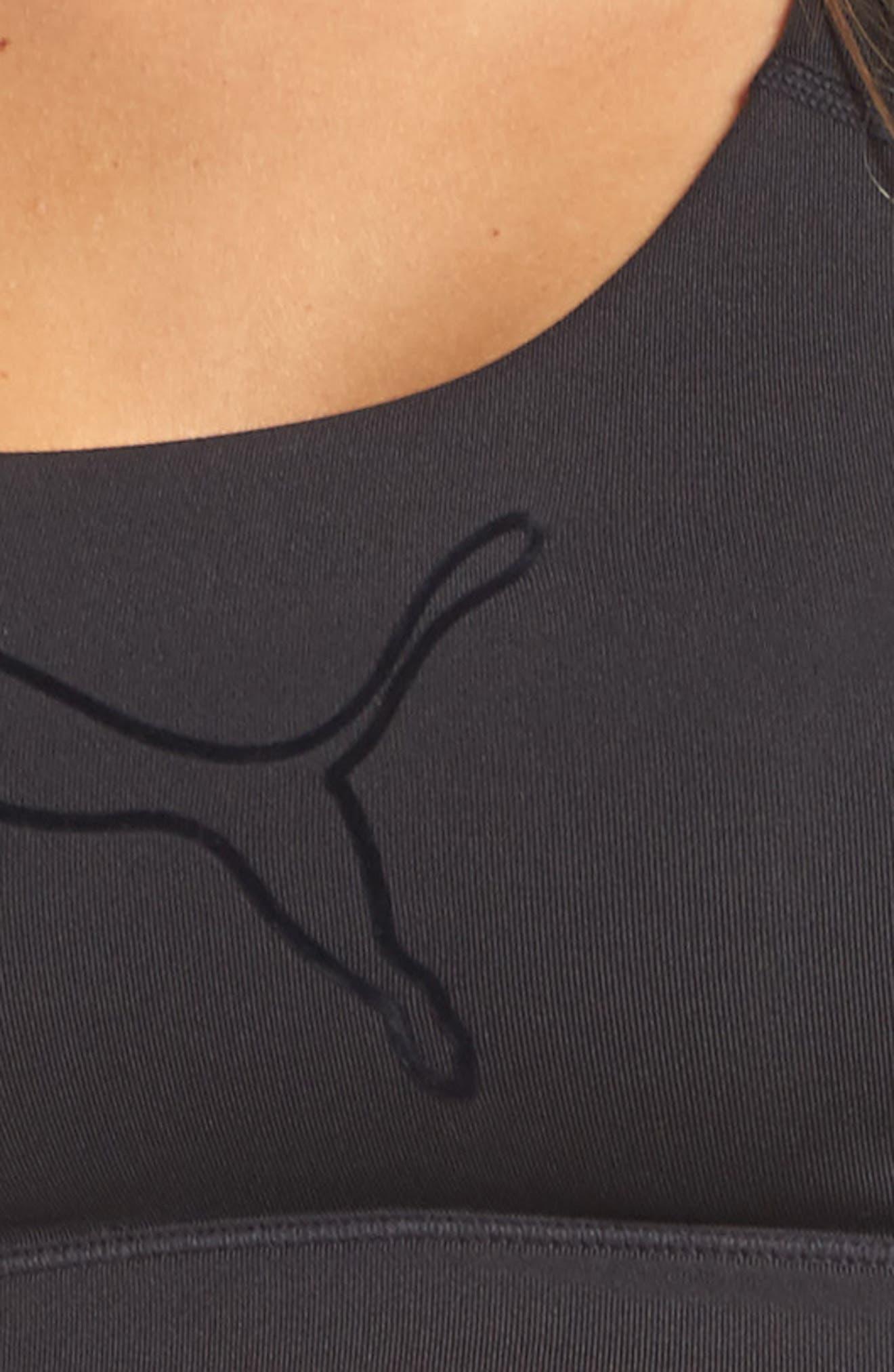 Training PWRSHAPE Forever Sports Bra,                             Alternate thumbnail 6, color,                             Puma Black-Black Cat