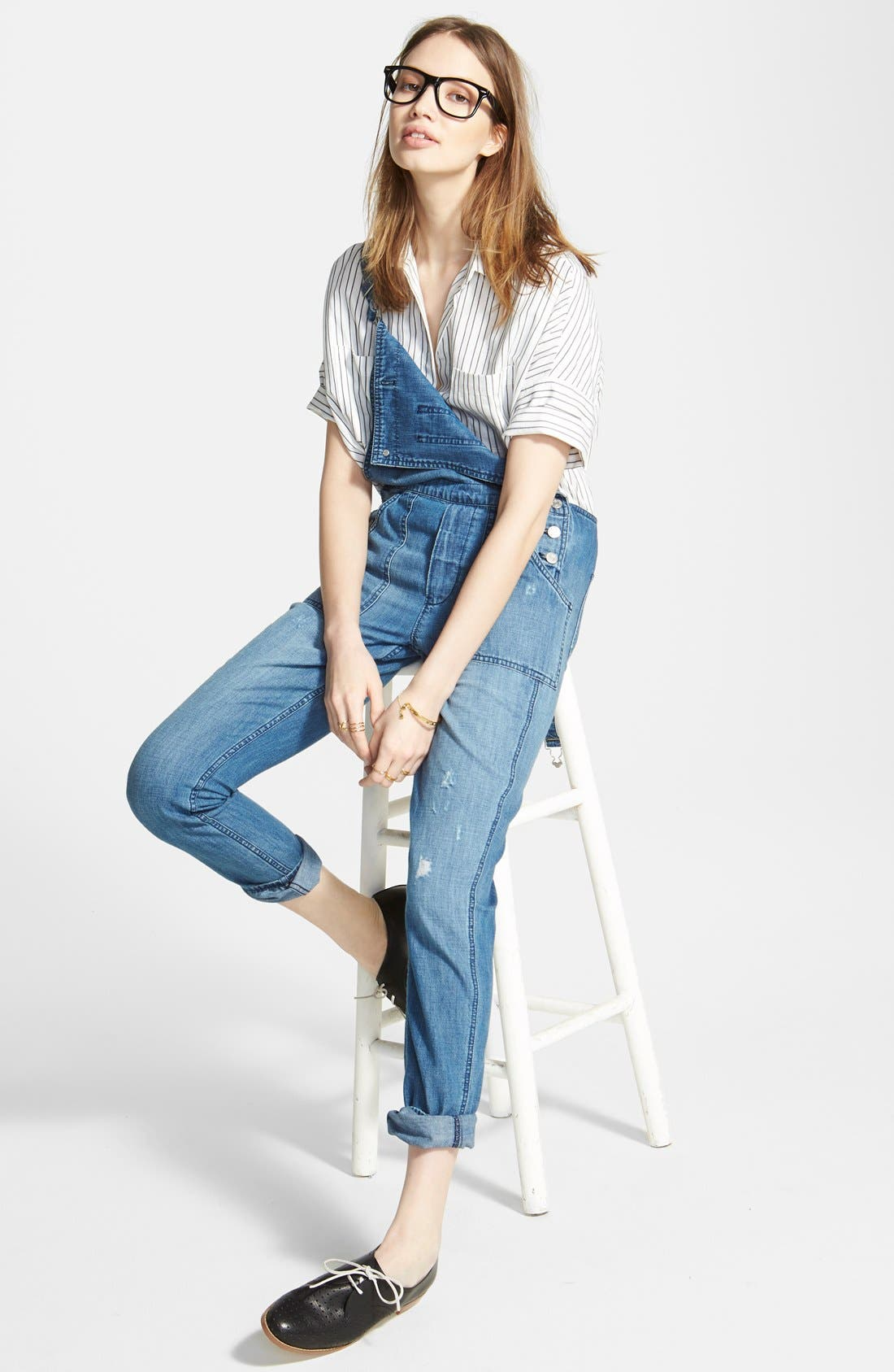 Alternate Image 4  - Madewell 'Park' Denim Overalls (Dixon)