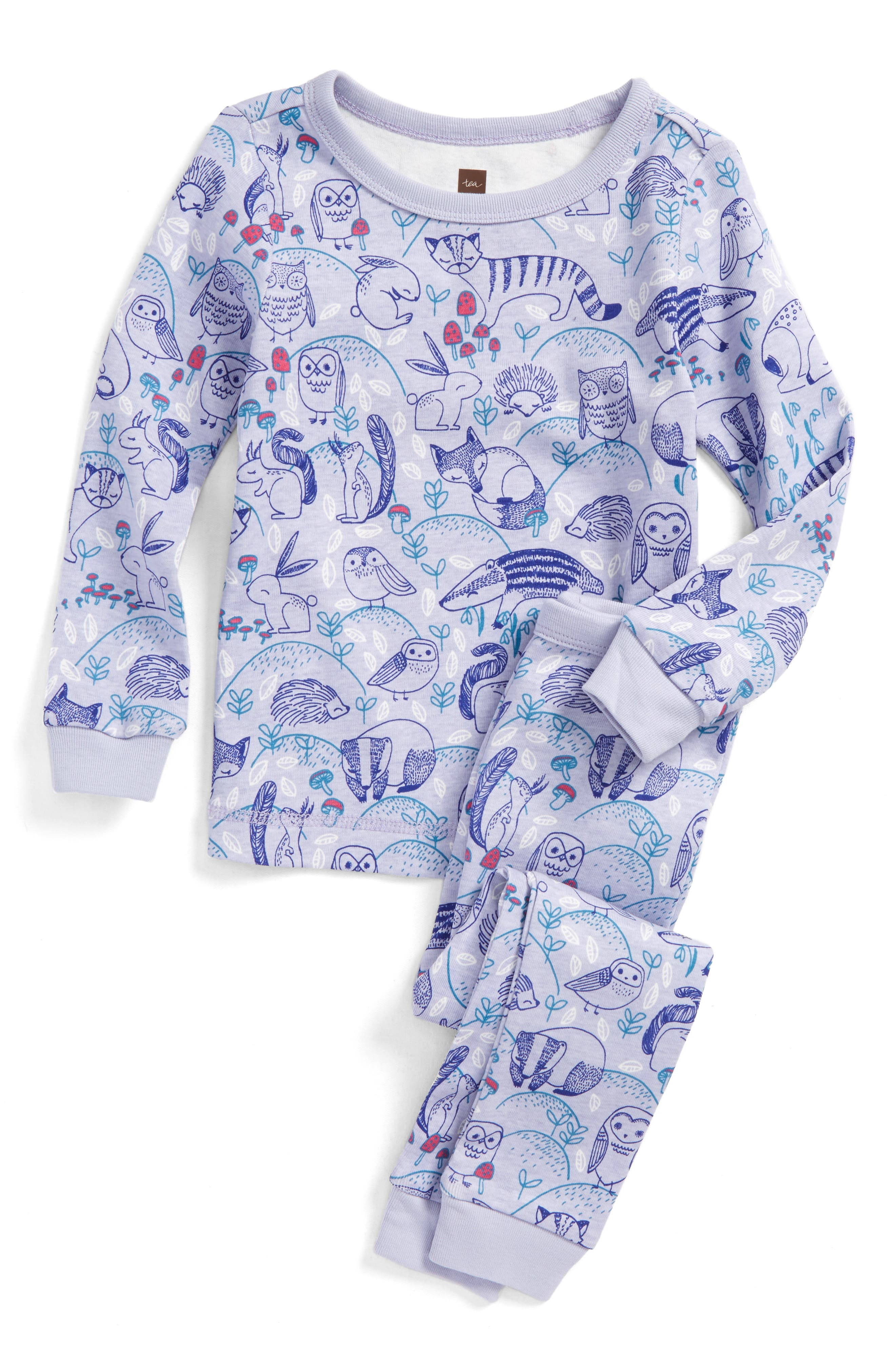 Main Image - Tea Collection Frith Fitted Two-Piece Pajamas (Toddler Girls, Little Girls & Big Girls)