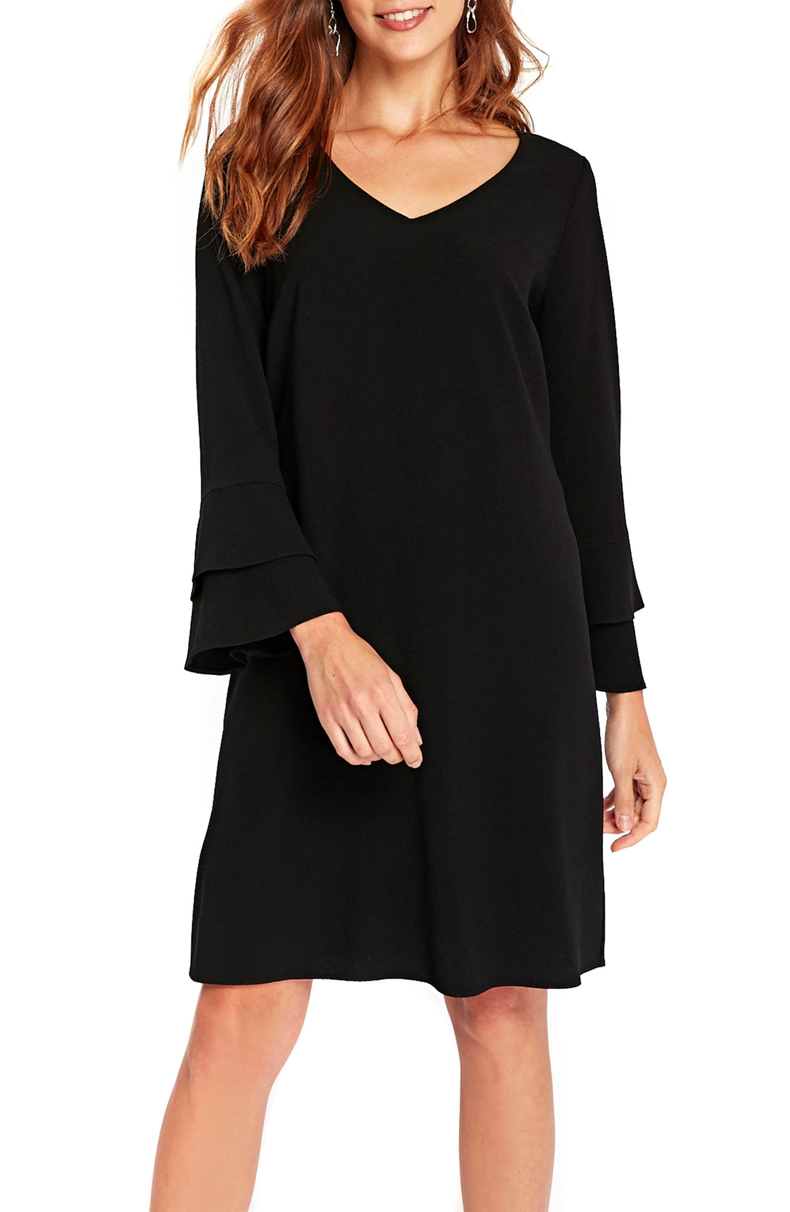 Main Image - Wallis Bell Sleeve Shift Dress