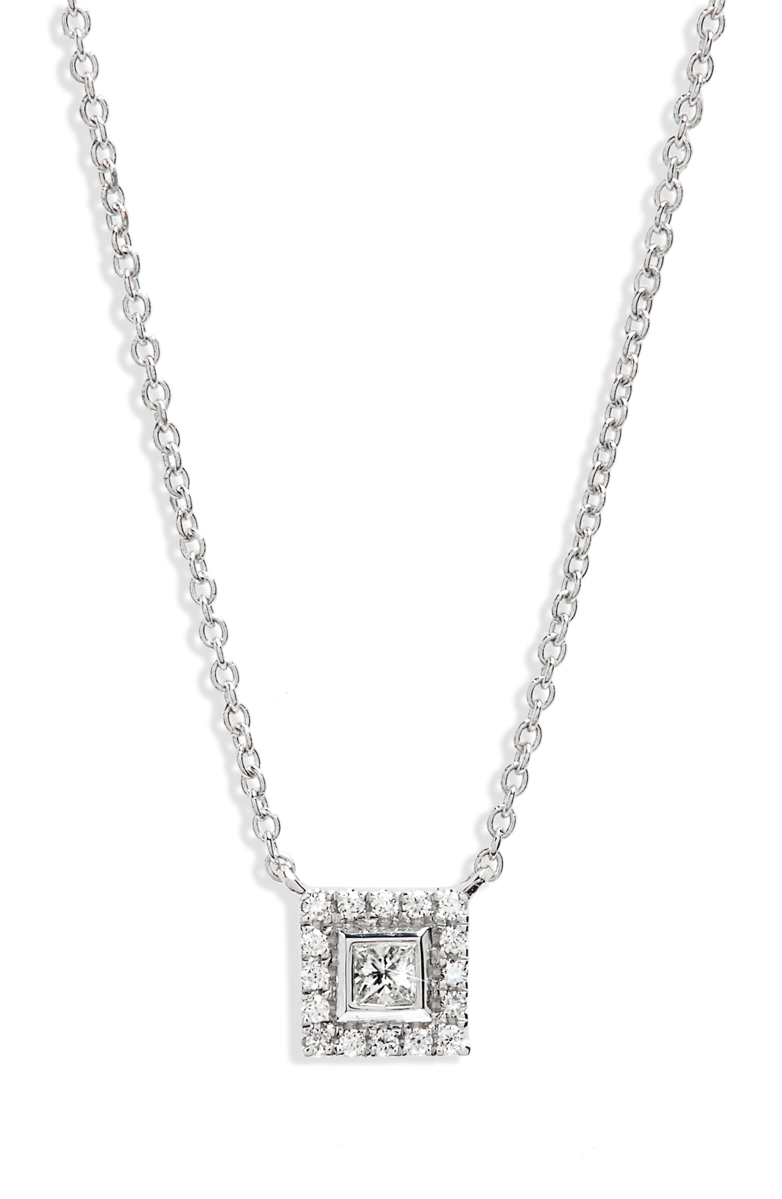 Alternate Image 1 Selected - Bony Levy Amara Diamond Square Pendant Necklace (Nordstrom Exclusive)