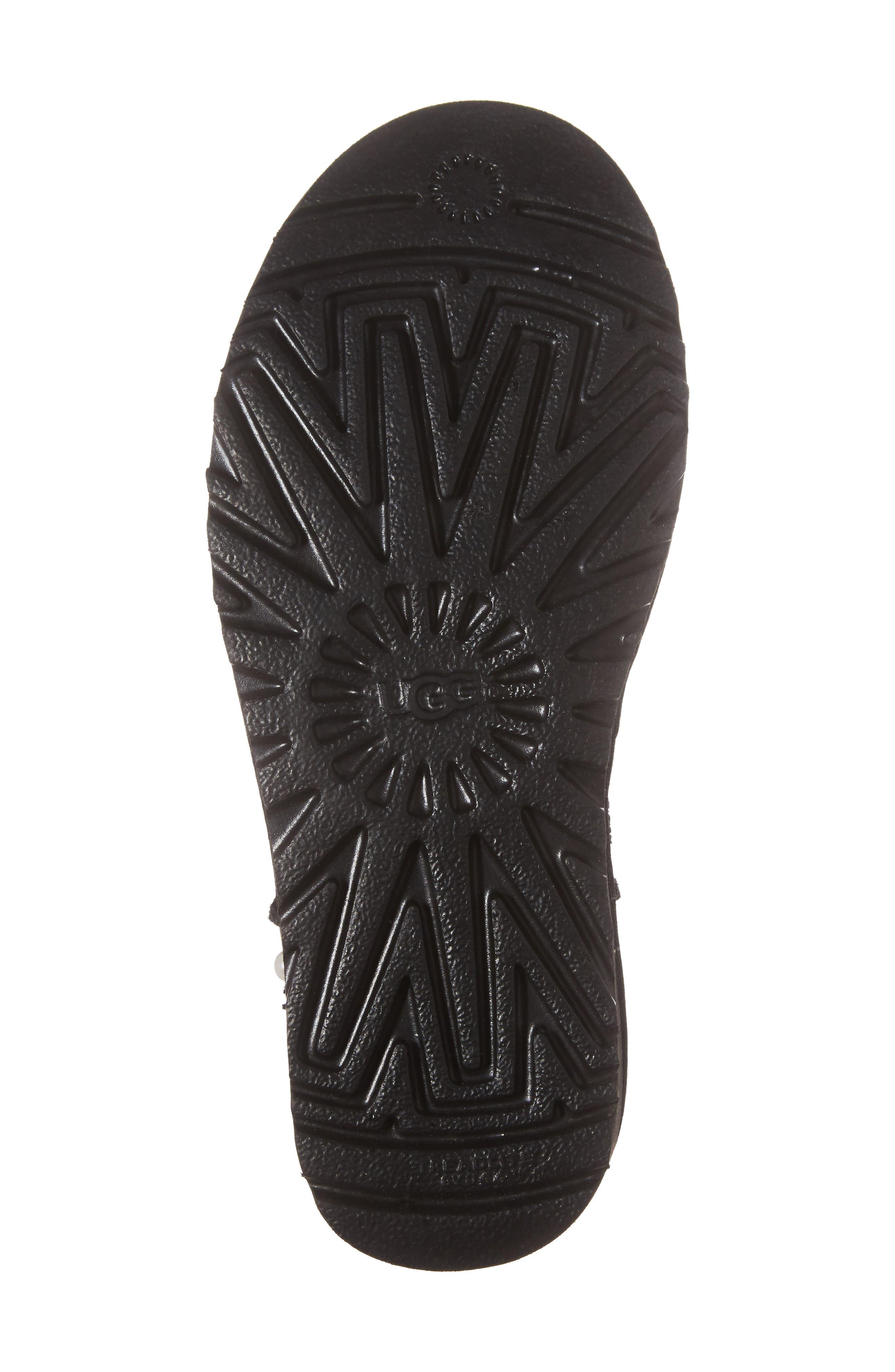 Classic Short Petal Boot,                             Alternate thumbnail 6, color,                             Black Suede