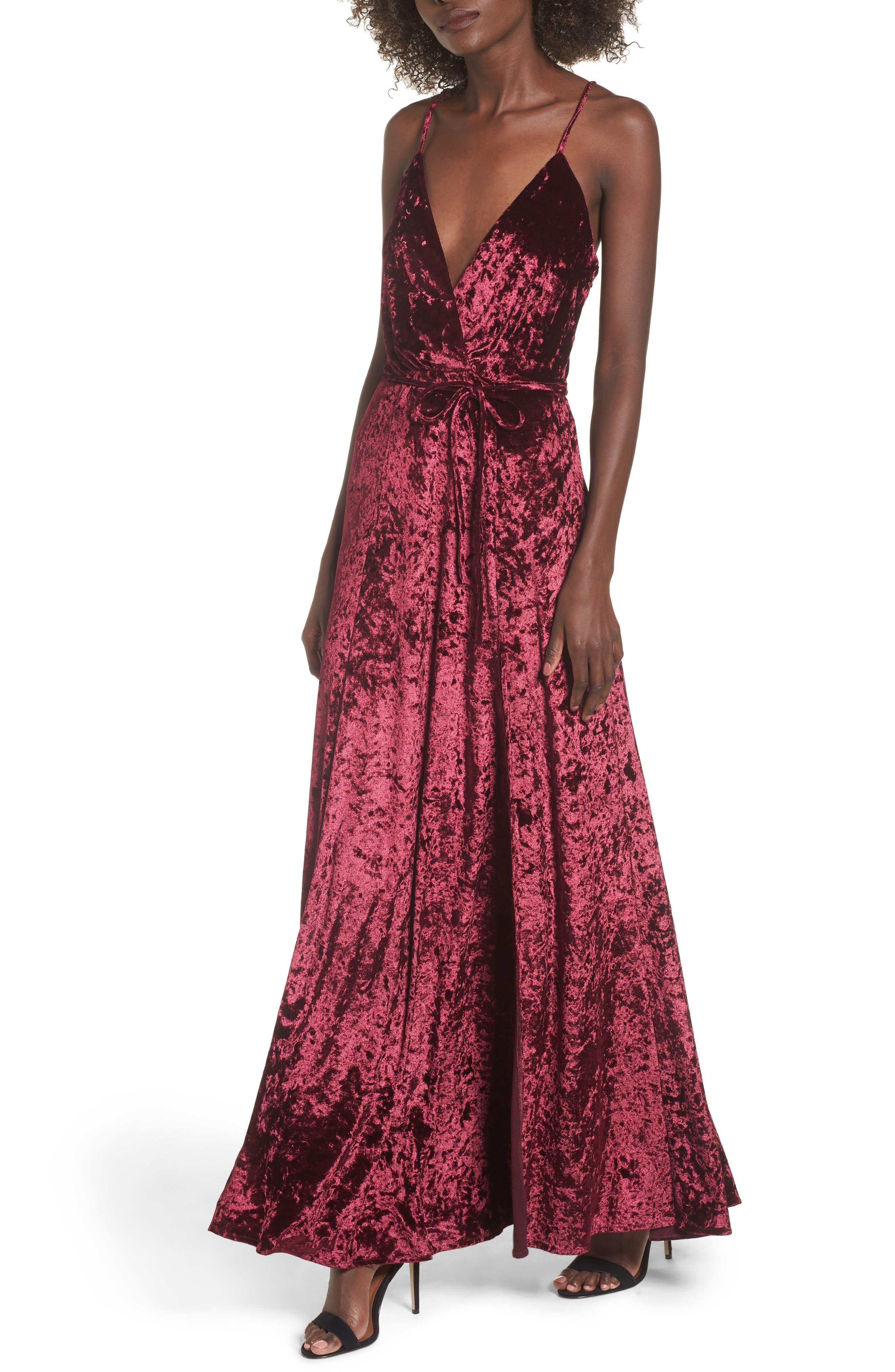 Crenshaw Maxi Dress,                             Main thumbnail 1, color,                             Bordeaux