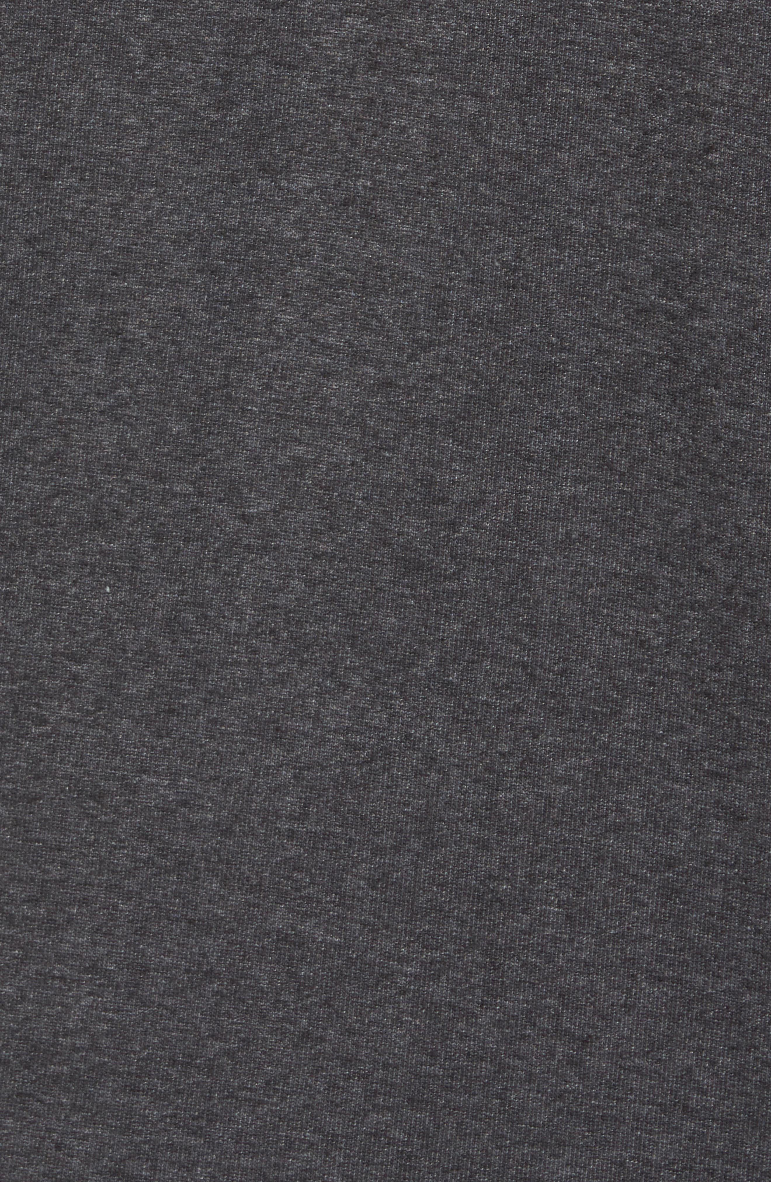 Fleece Zip Hoodie,                             Alternate thumbnail 5, color,                             Grey Charcoal Heather