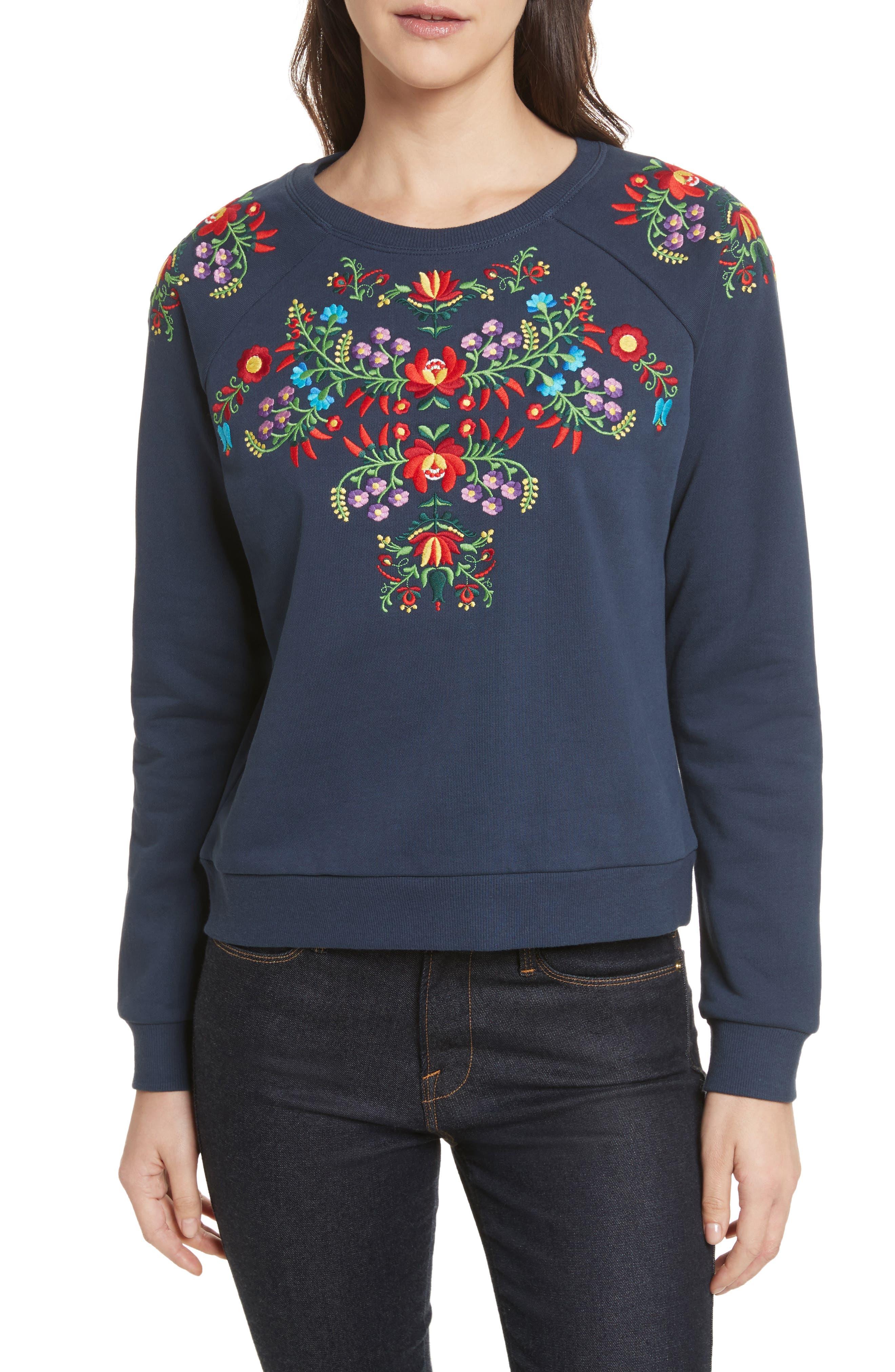 Jennings Sweatshirt,                         Main,                         color, Navy