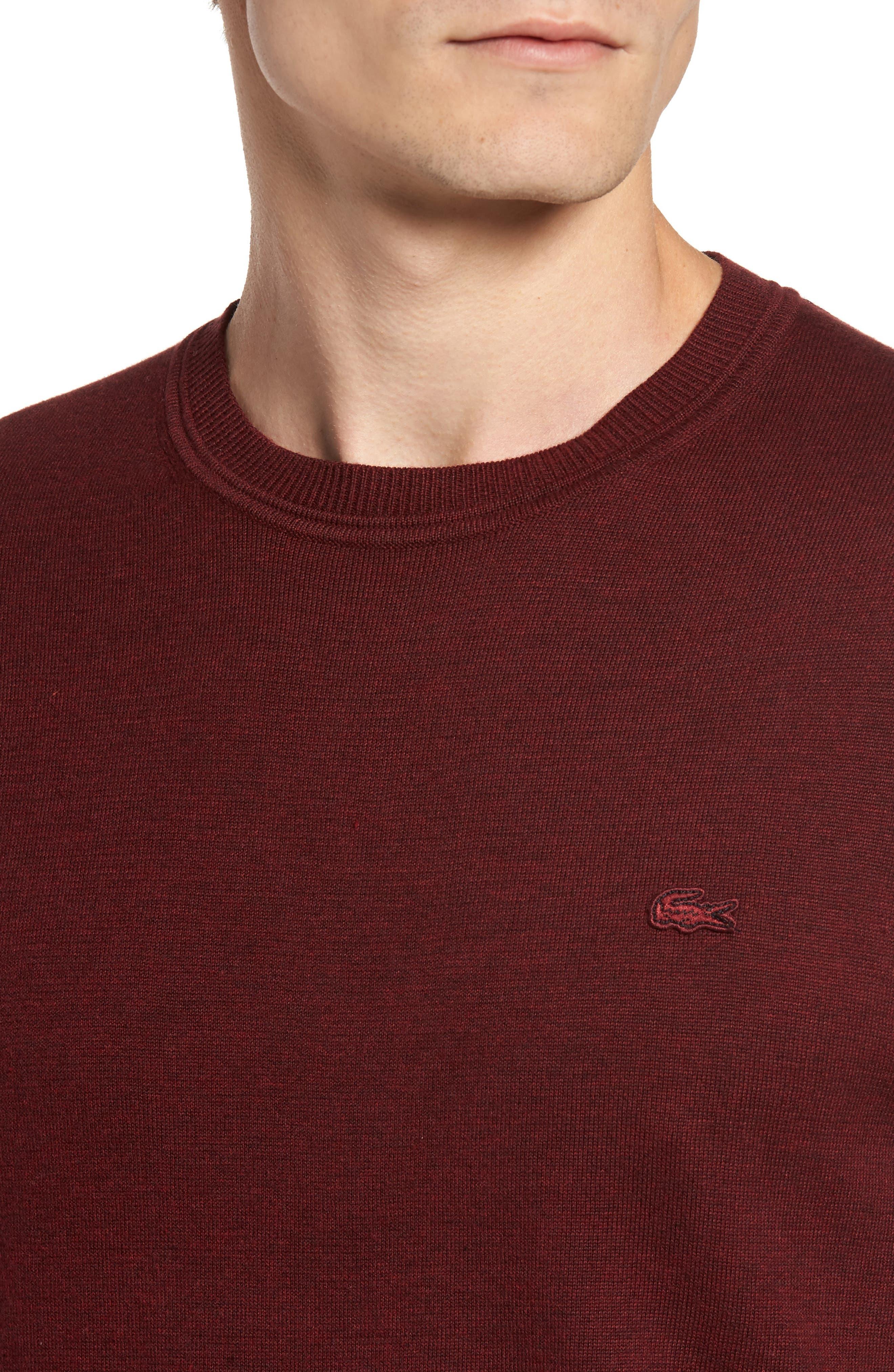Alternate Image 4  - Lacoste Jersey Knit Crewneck Sweater