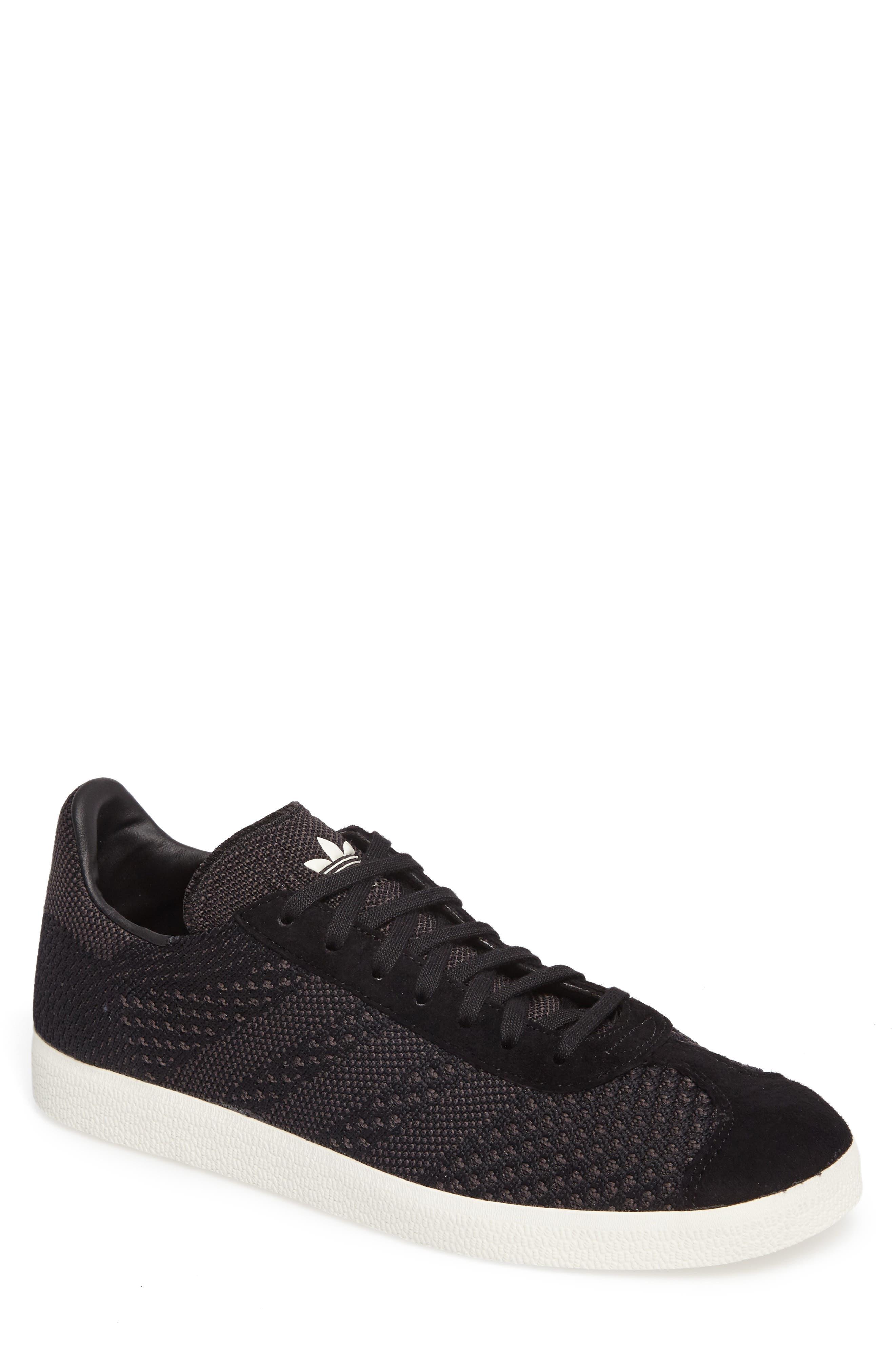 Gazelle Primeknit Sneaker,                             Main thumbnail 1, color,                             Core Black/ Off White