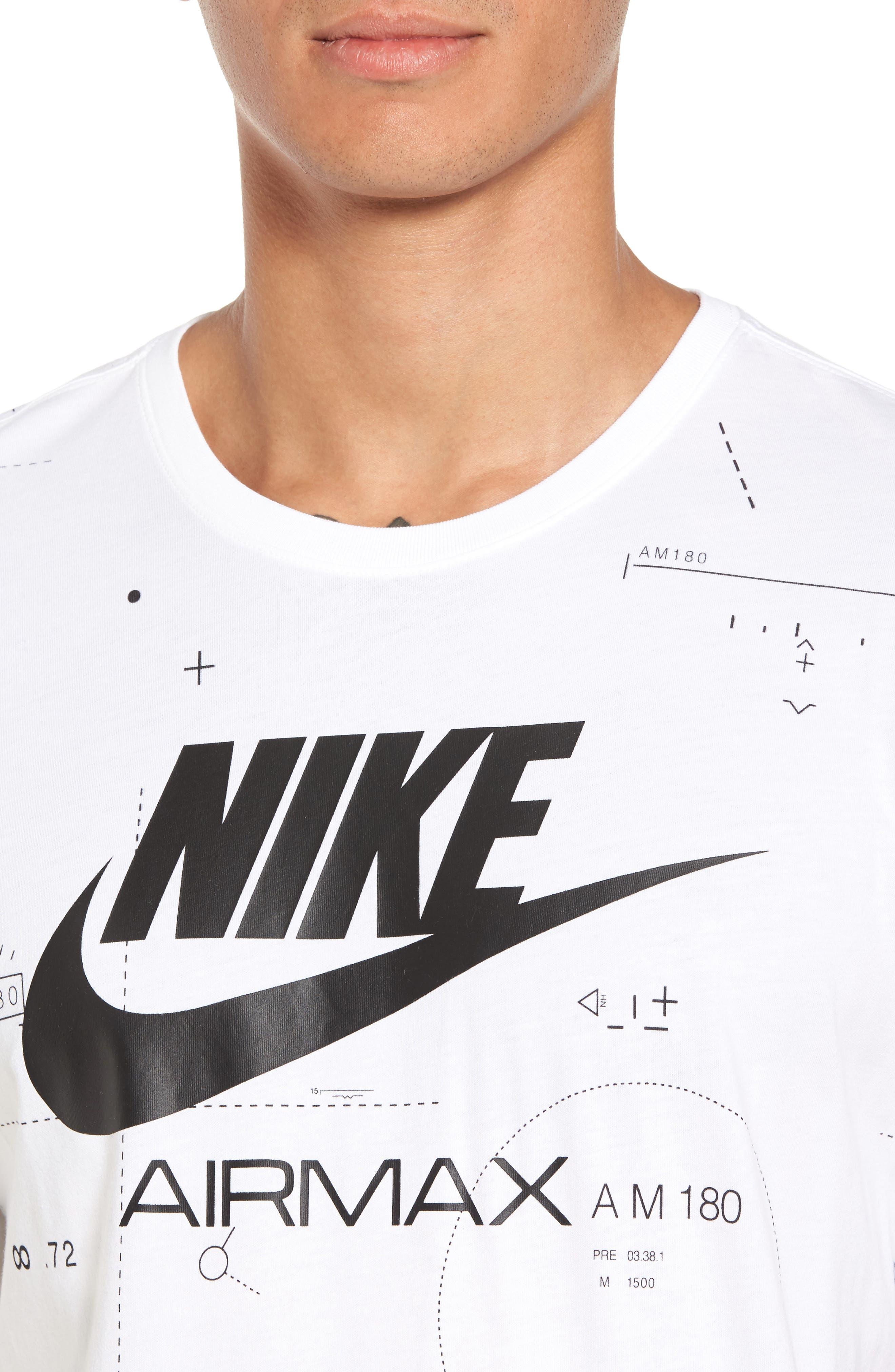 NSW Air Max 2 T-Shirt,                             Alternate thumbnail 5, color,                             White/ Black