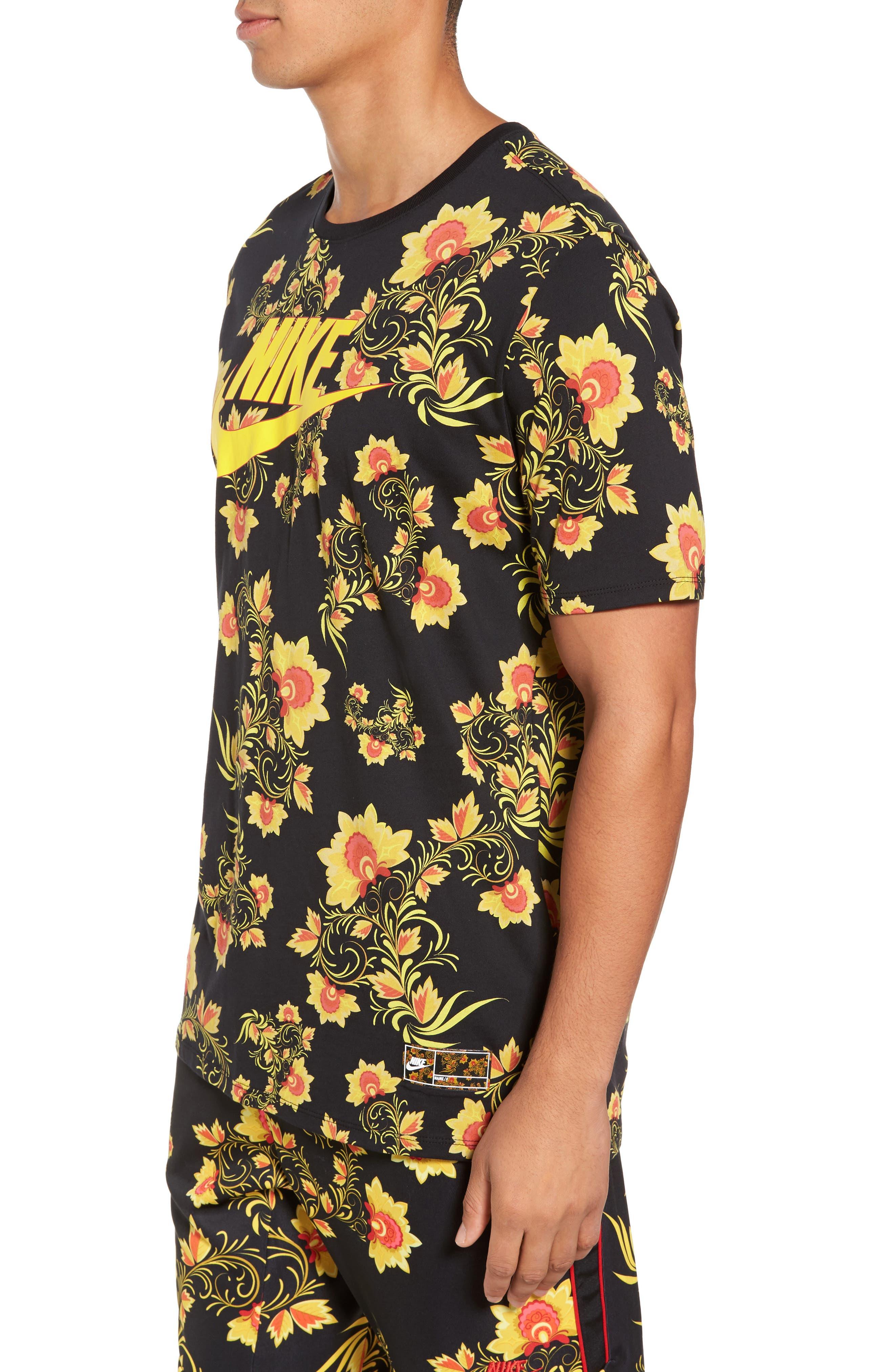 NSW Concept T-Shirt,                             Alternate thumbnail 3, color,                             Black/ Tour Yellow