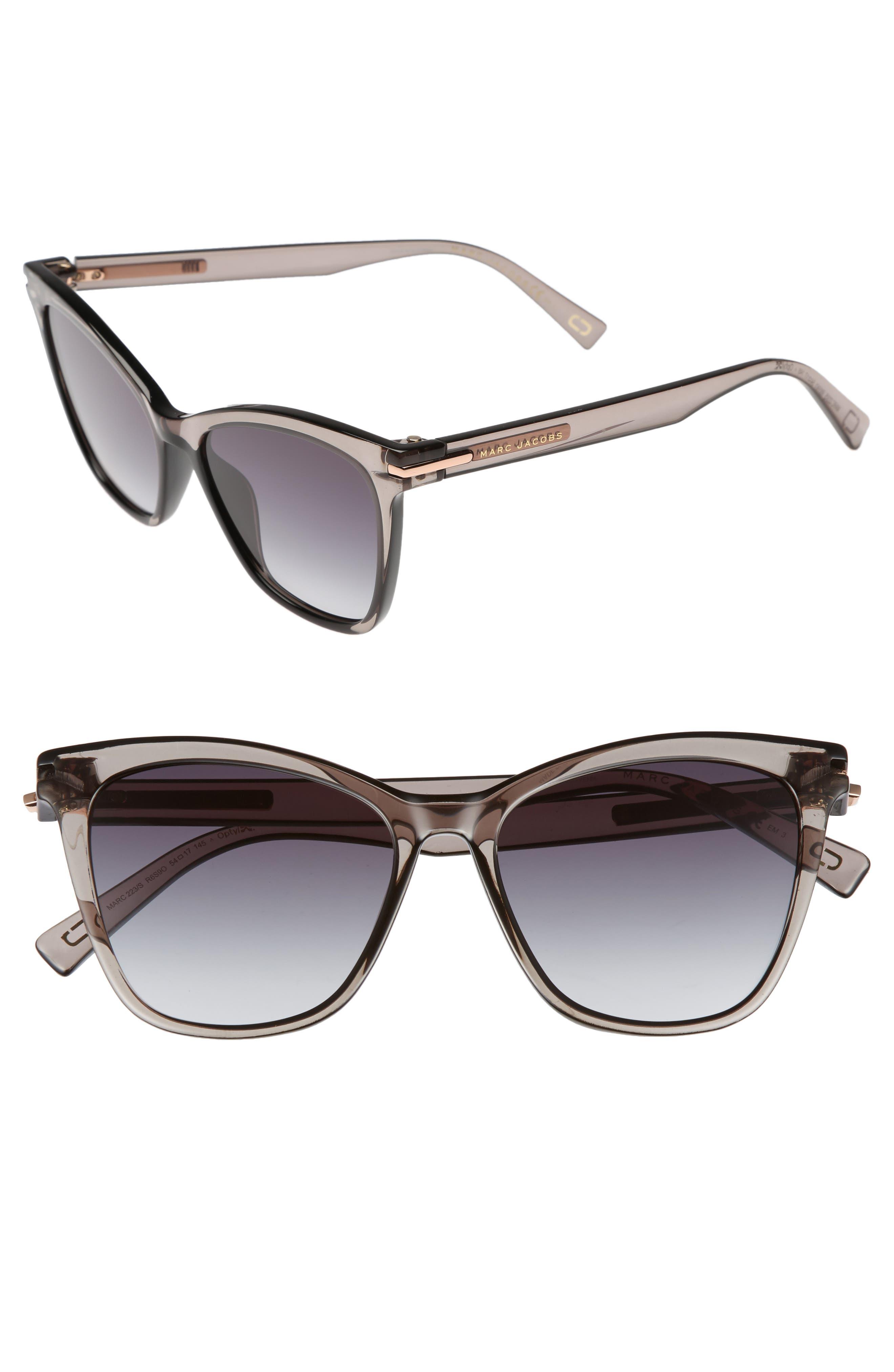 54a6183ab0 MARC JACOBS 54Mm Gradient Lens Sunglasses - Grey  Black