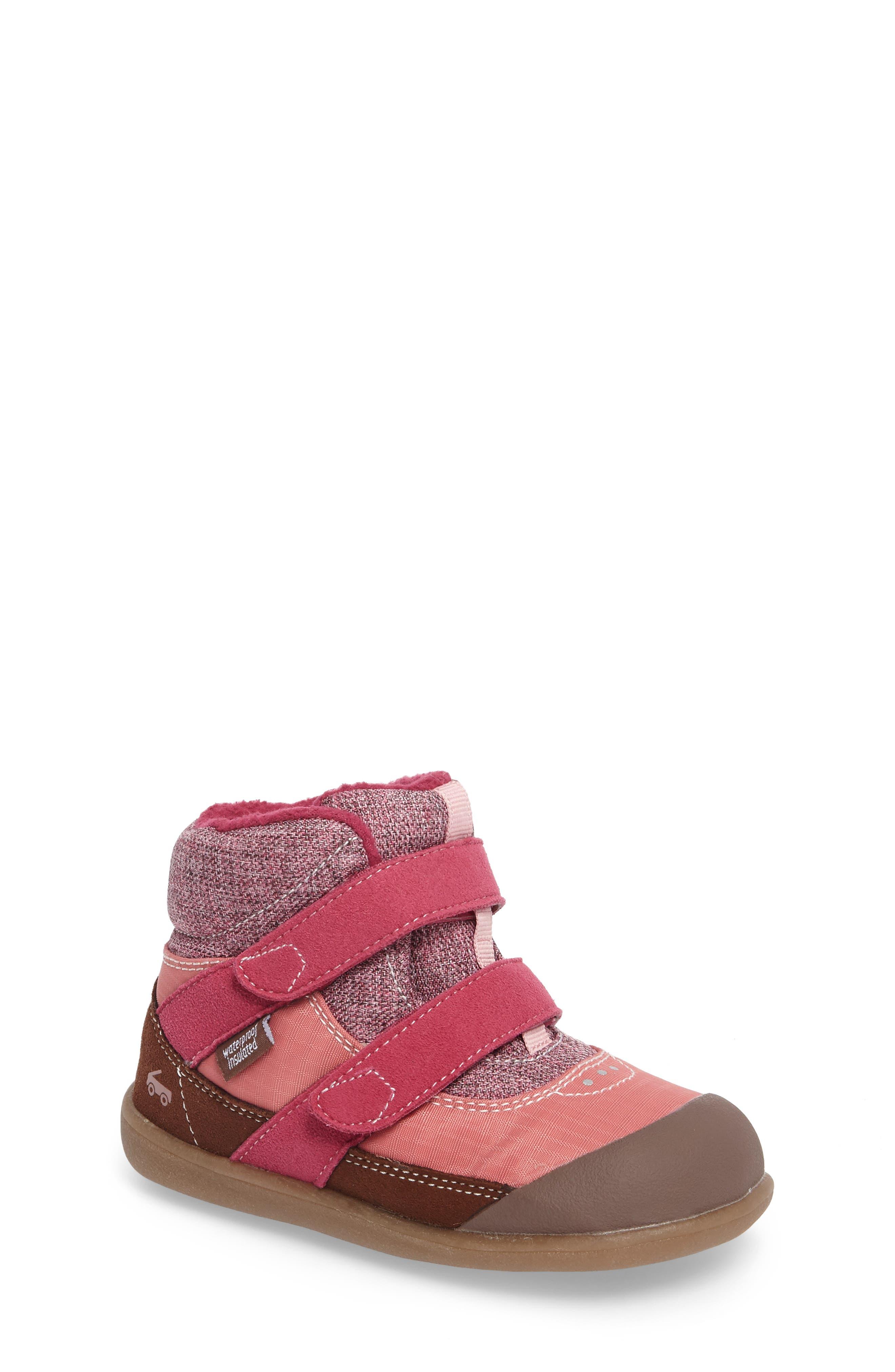 Atlas Waterproof Boot,                         Main,                         color, Pink