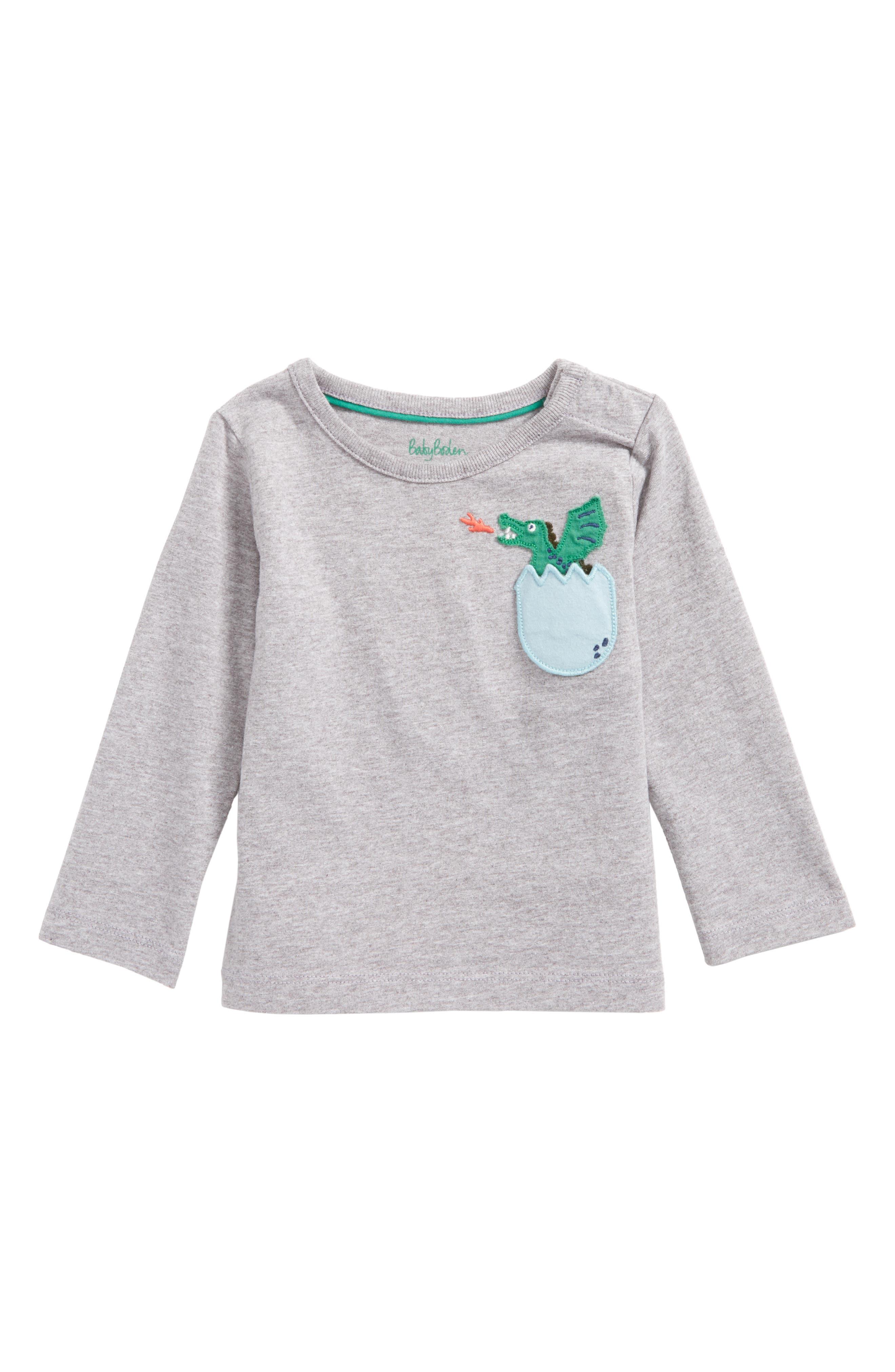 Alternate Image 1 Selected - Mini Boden Adventure Pocket T-Shirt (Baby Boys & Toddler Boys)
