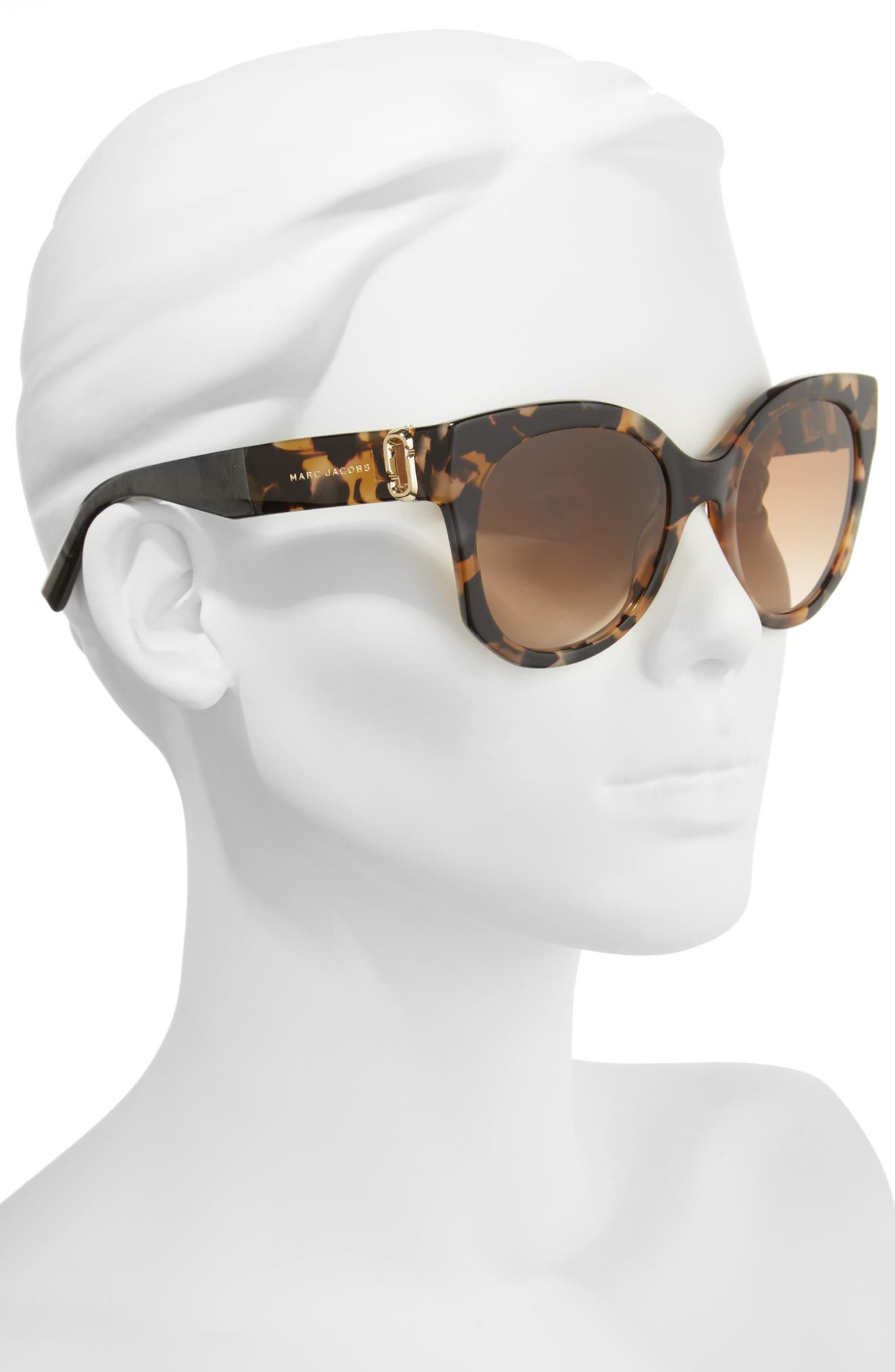 53mm Gradient Lens Cat Eye Sunglasses,                             Alternate thumbnail 2, color,                             Dark Havanna