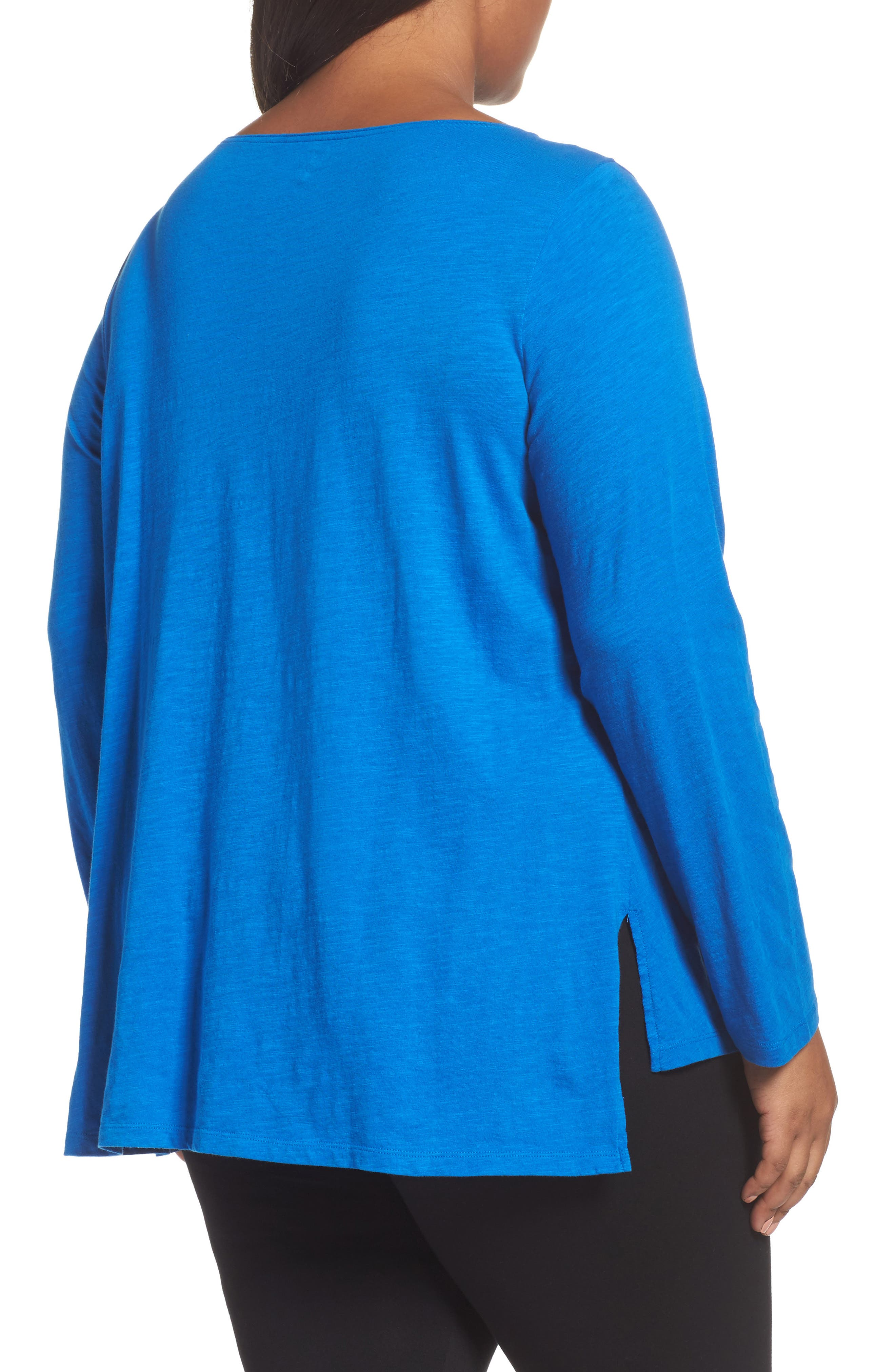 Organic Cotton Jersey Top,                             Alternate thumbnail 2, color,                             Blue