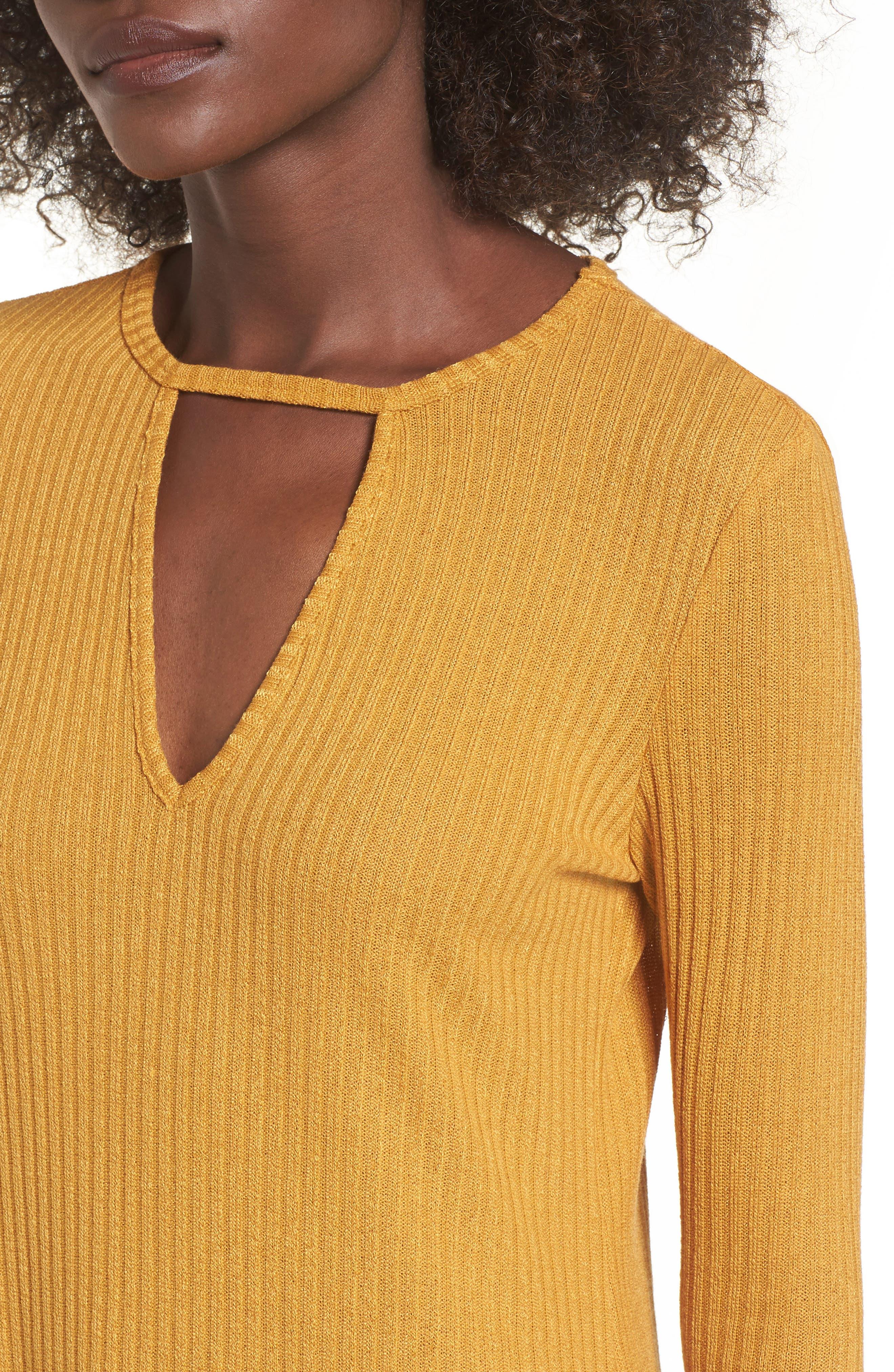 Maven Thermal Dress,                             Alternate thumbnail 4, color,                             Mustard