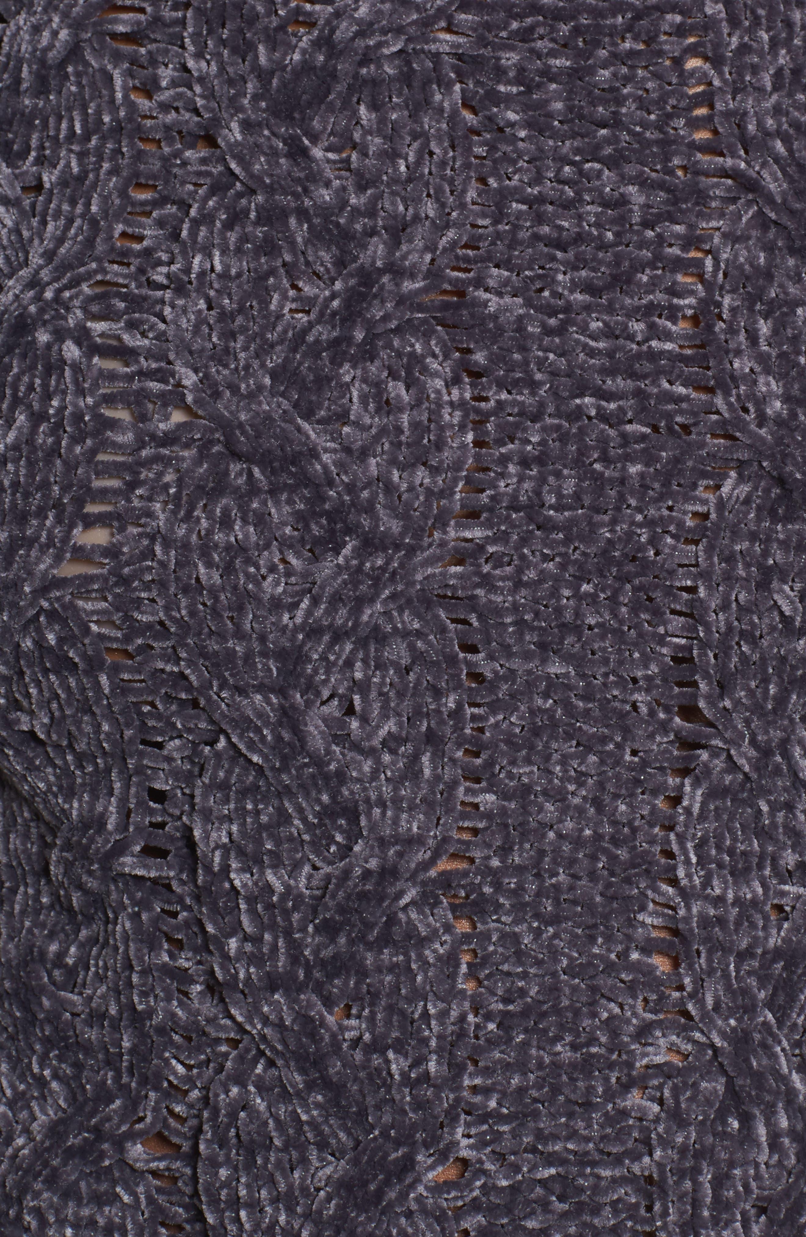 Alternate Image 5  - Woven Heart Chenille Turtleneck Sweater