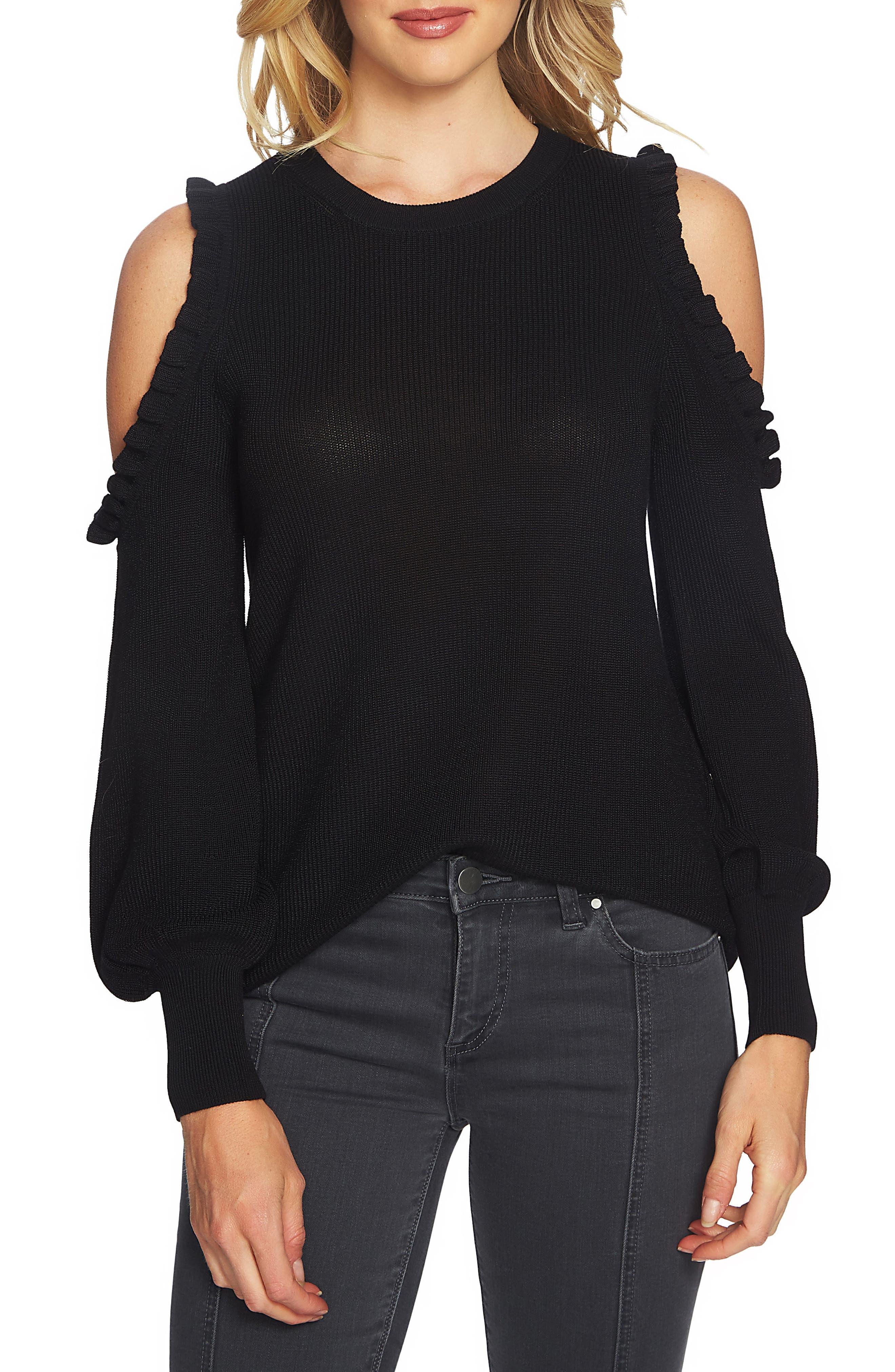 Alternate Image 1 Selected - 1.STATE Cold Shoulder Sweater