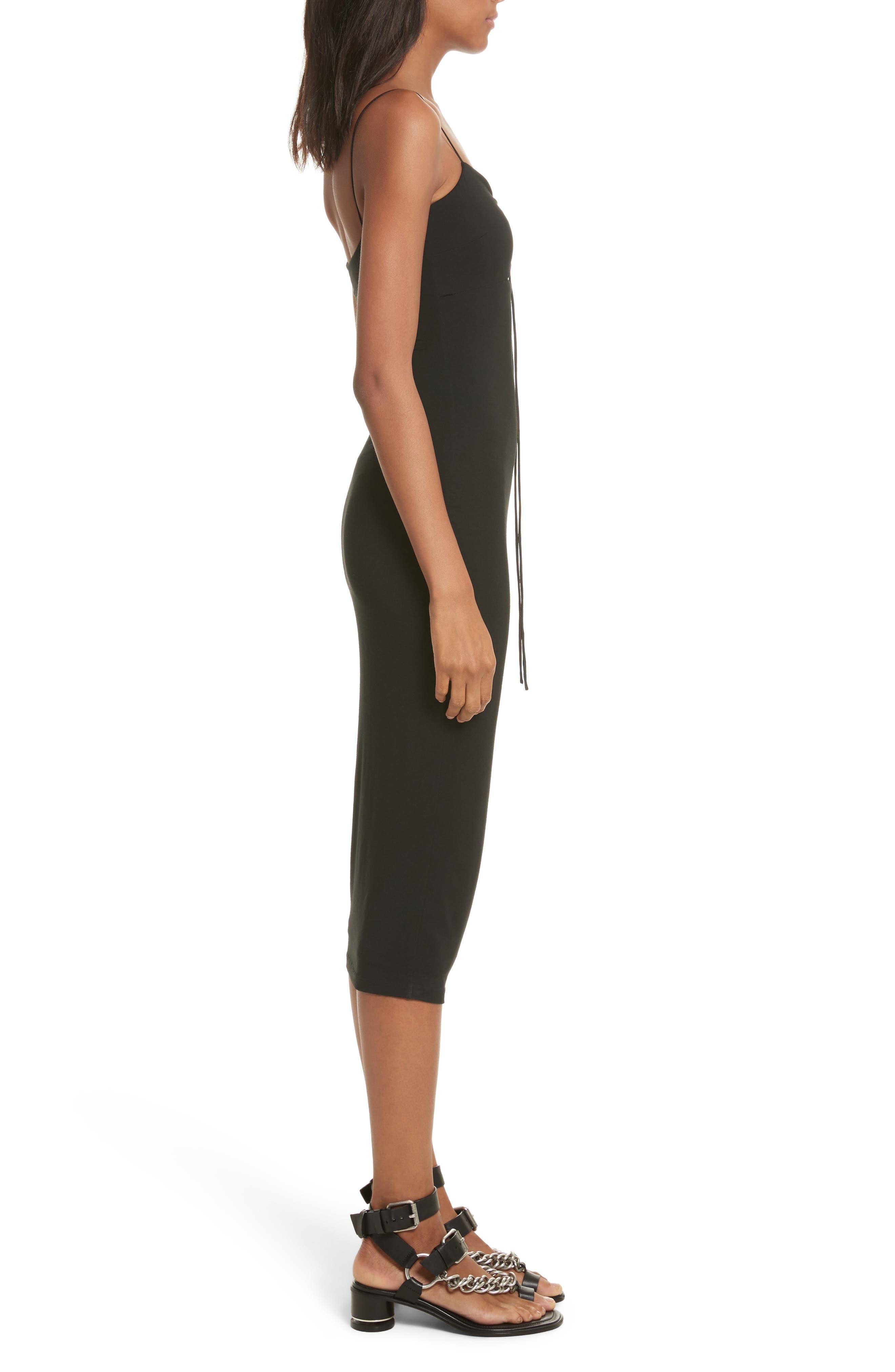 Alternate Image 3  - T by Alexander Wang Cutout Stretch Jersey Midi Dress