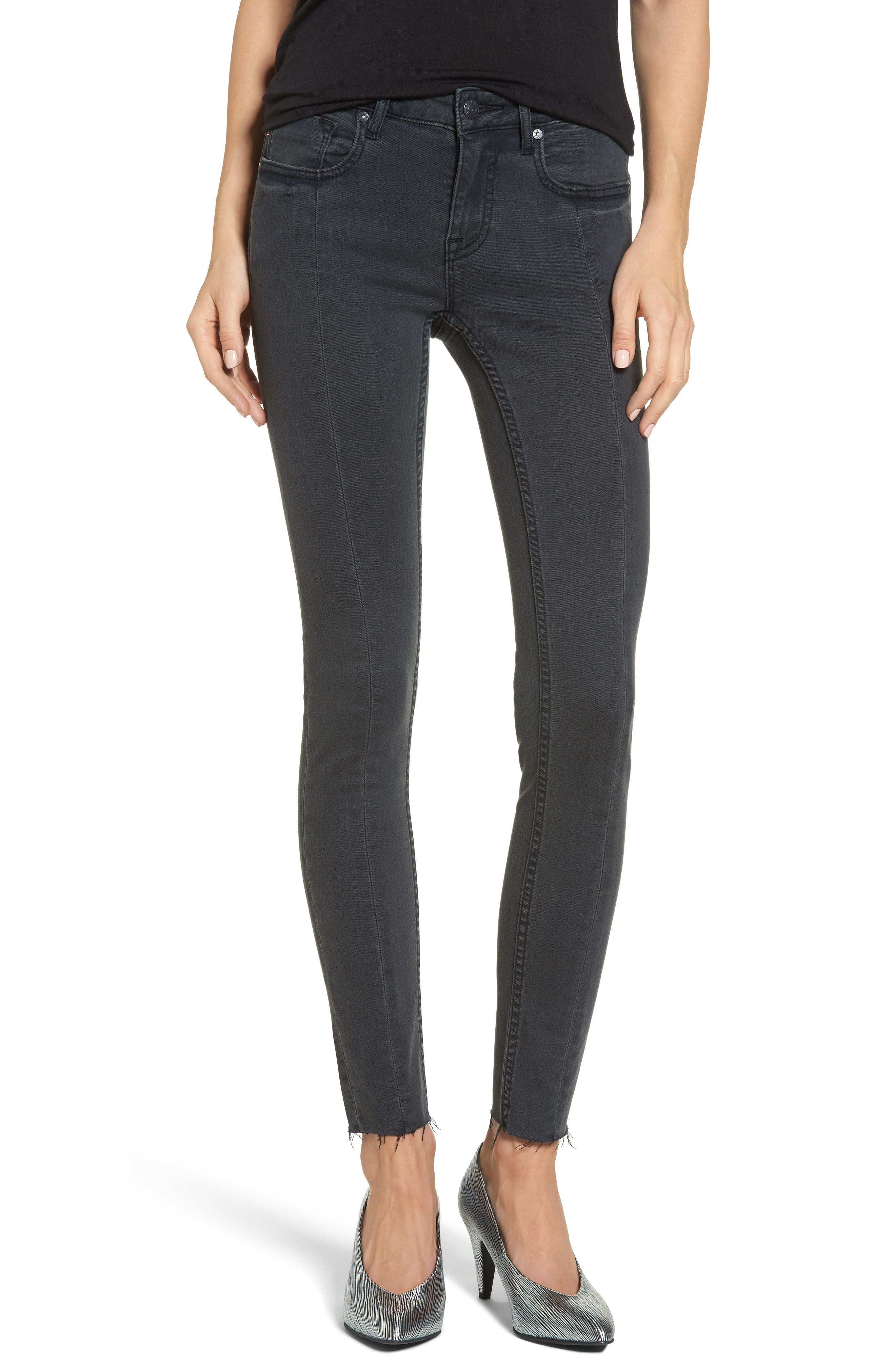 Jagger Front Seam Skinny Jeans,                             Main thumbnail 1, color,                             Washed Black