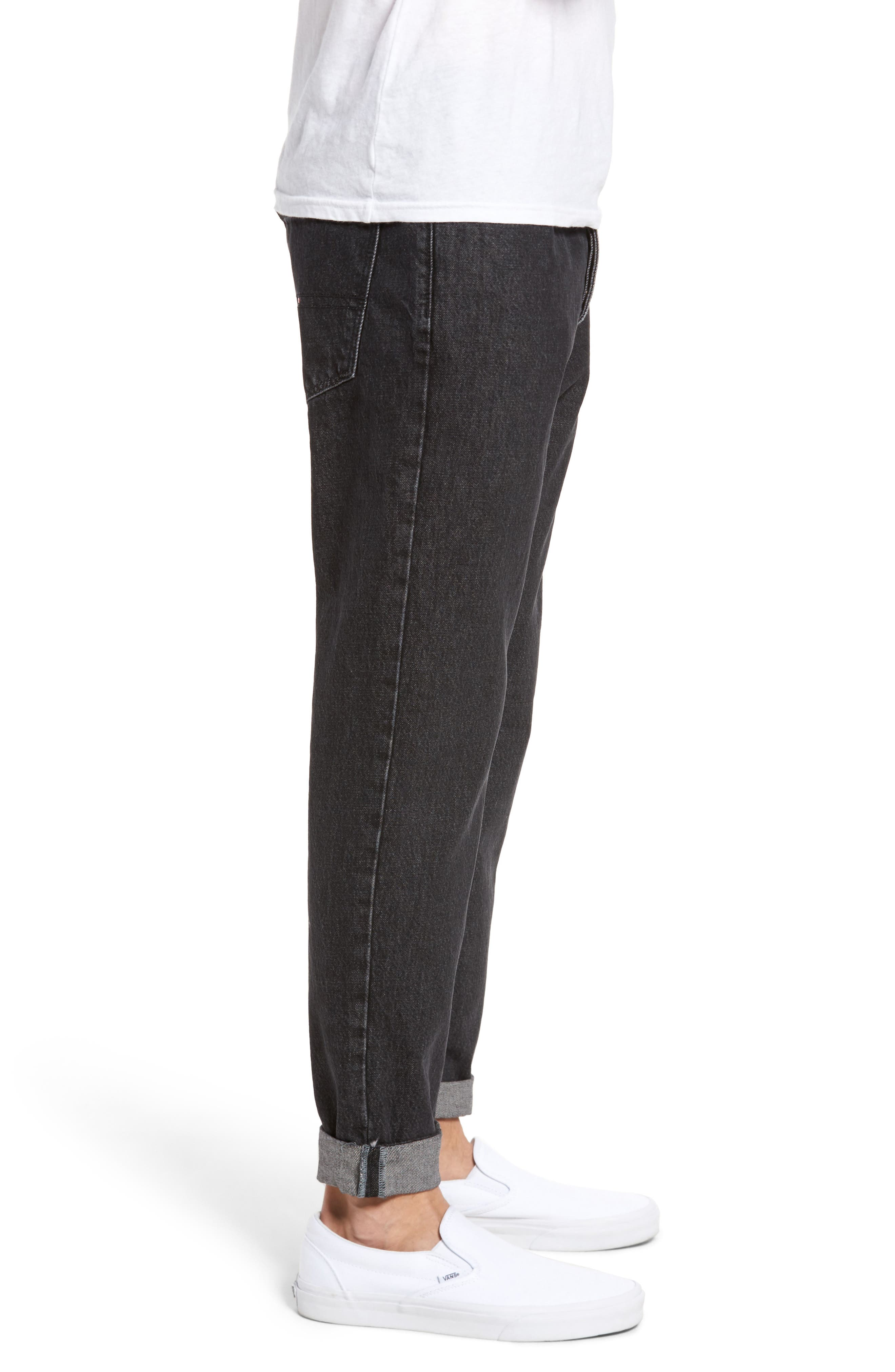 Alternate Image 3  - Tommy Hilfiger 90s Classic Straight Leg Jeans (Black)