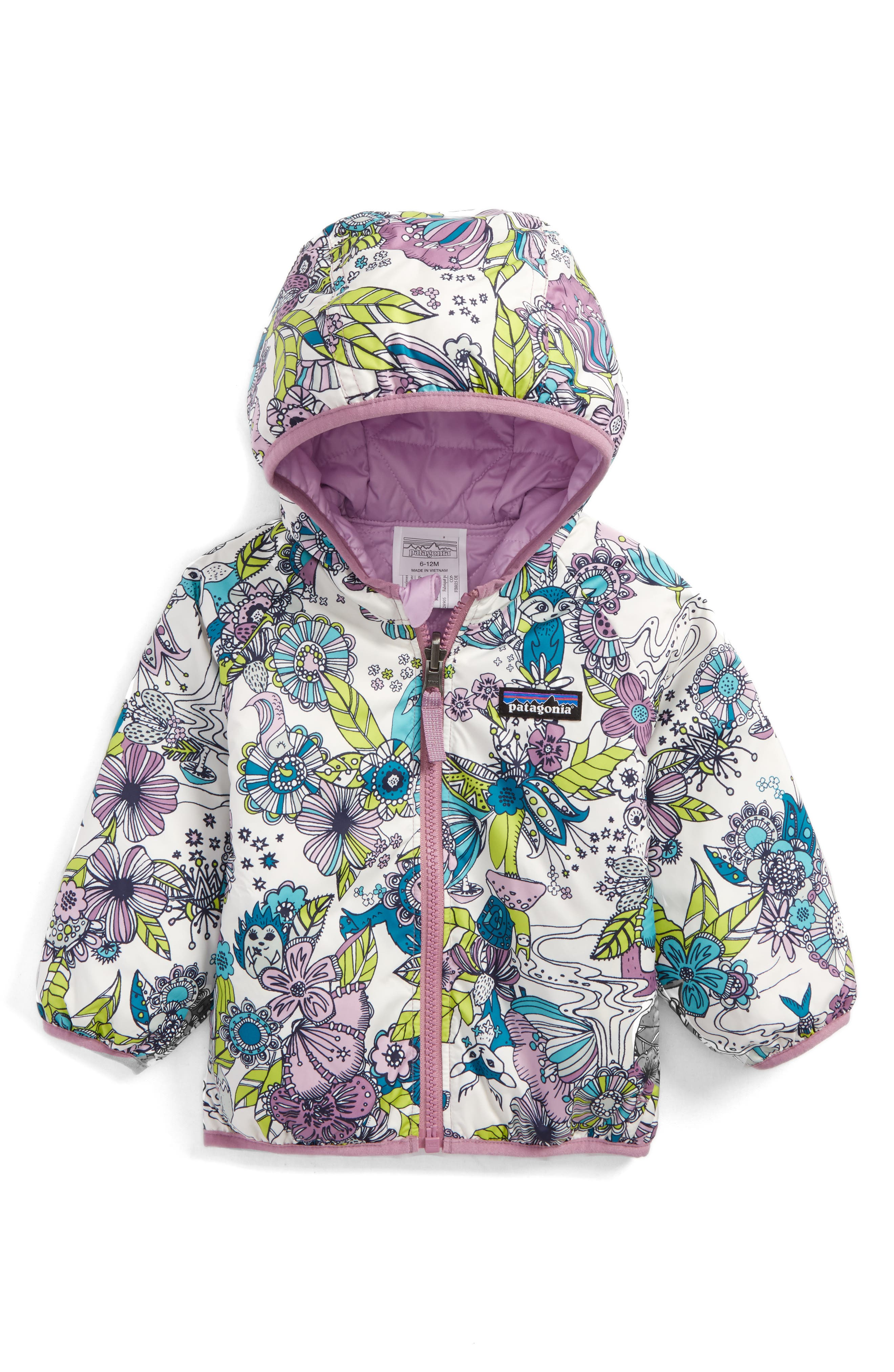 Puff-Ball Water Resistant Reversible Jacket,                         Main,                         color, Cuddle Puddle/ Birch White