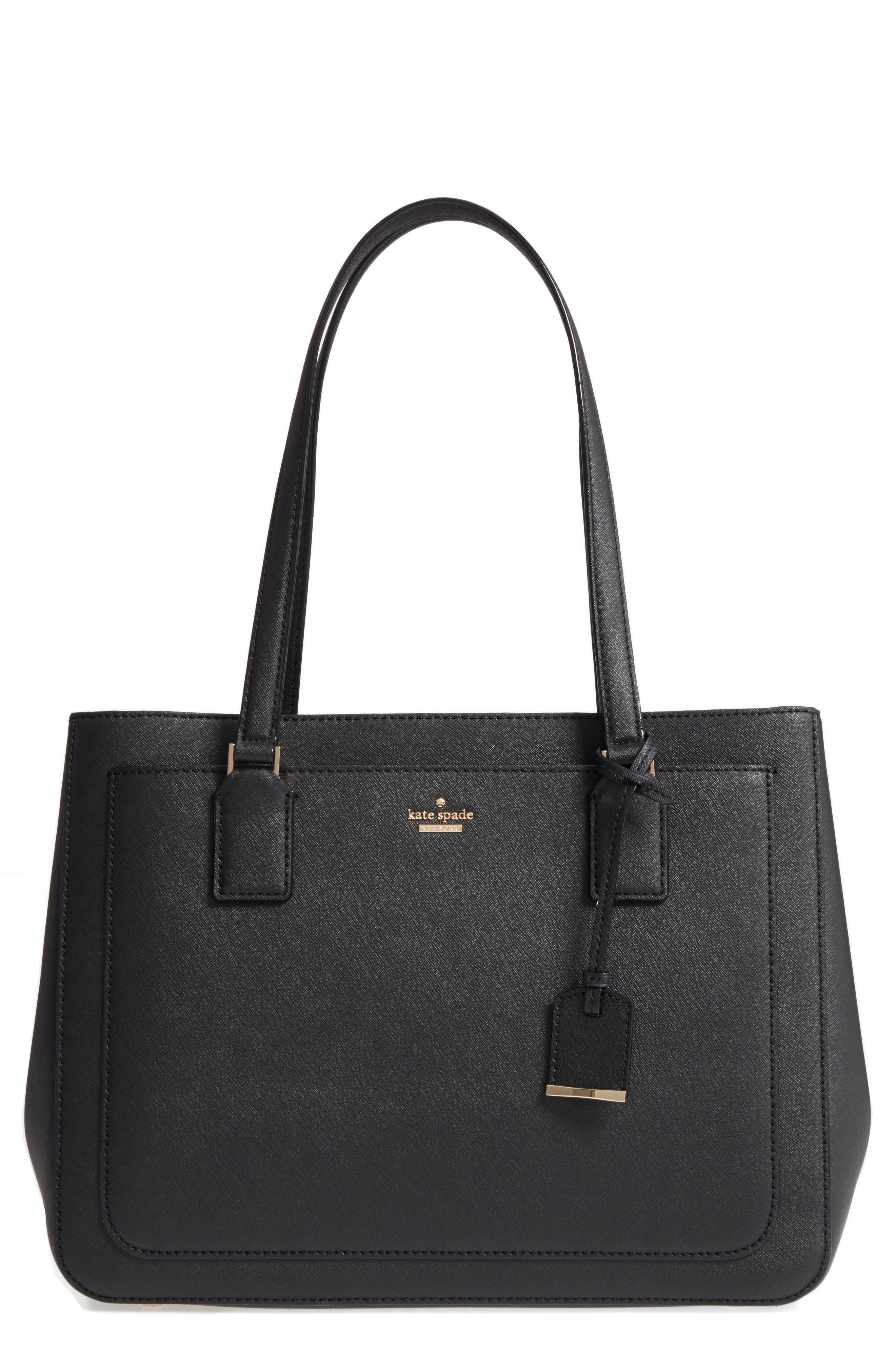 cameron street - zooey leather tote,                             Main thumbnail 1, color,                             Black