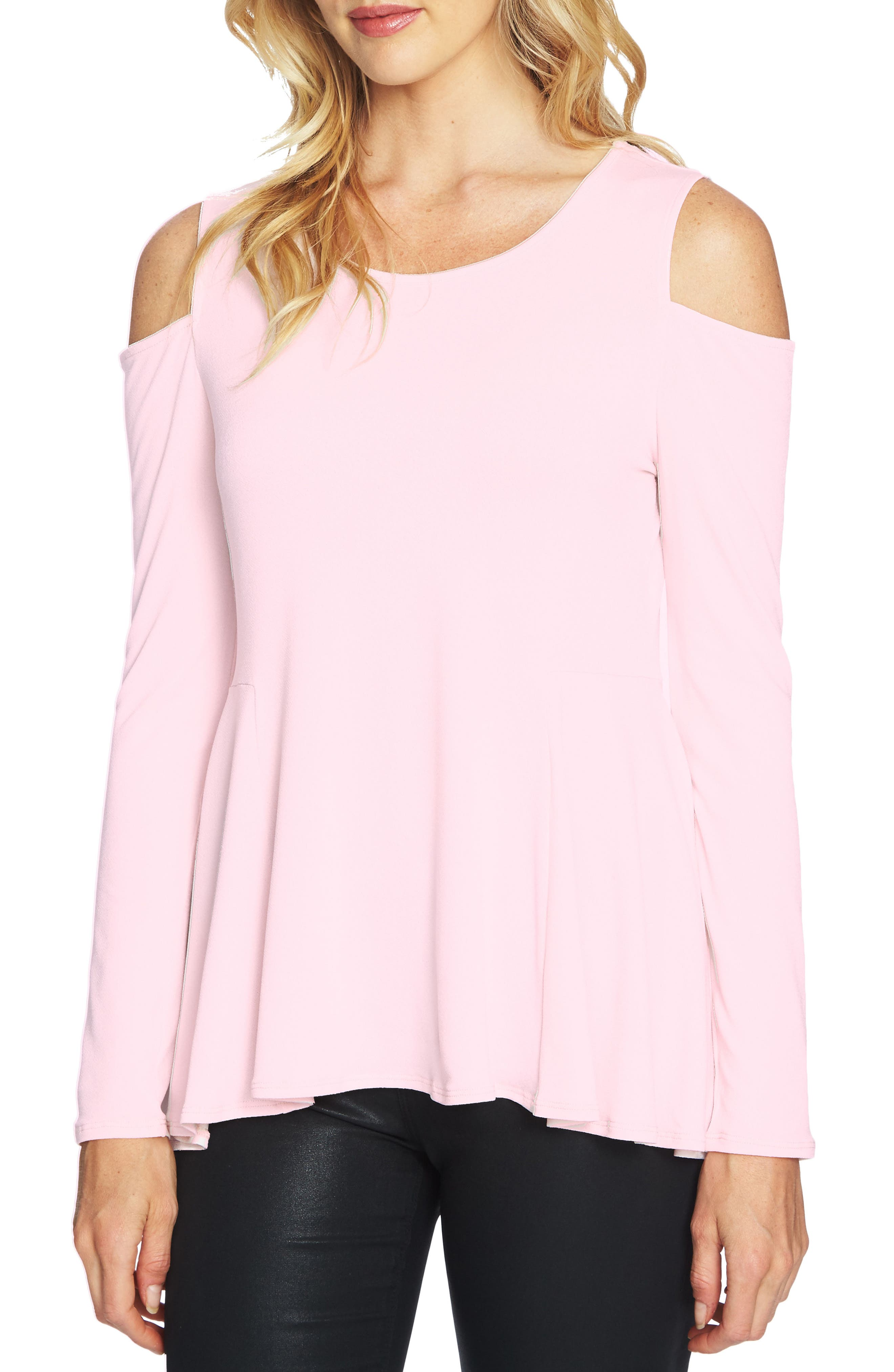 Main Image - CeCe Cold Shoulder Swing Top