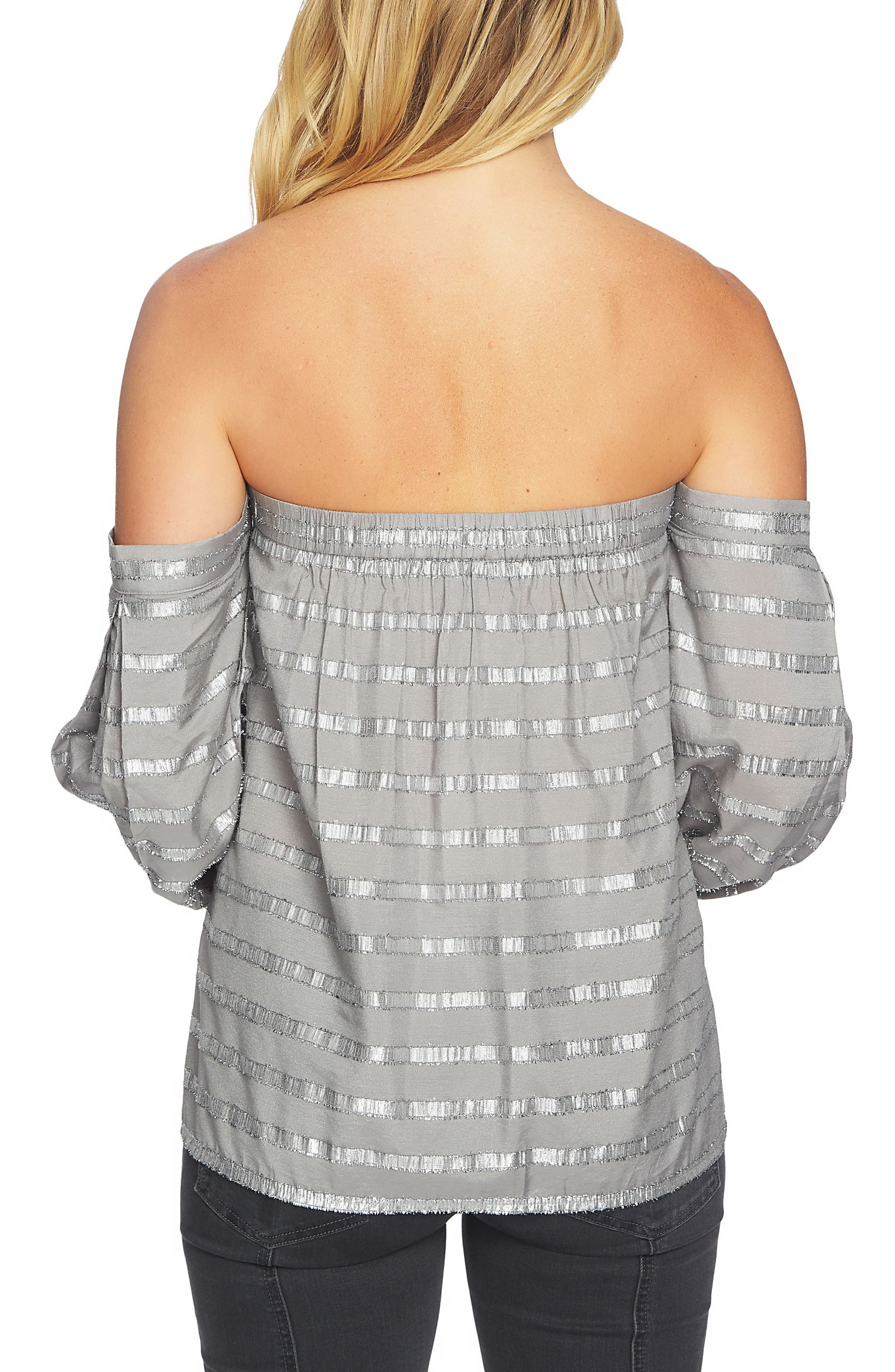 Off the Shoulder Top,                             Alternate thumbnail 2, color,                             Soot Grey