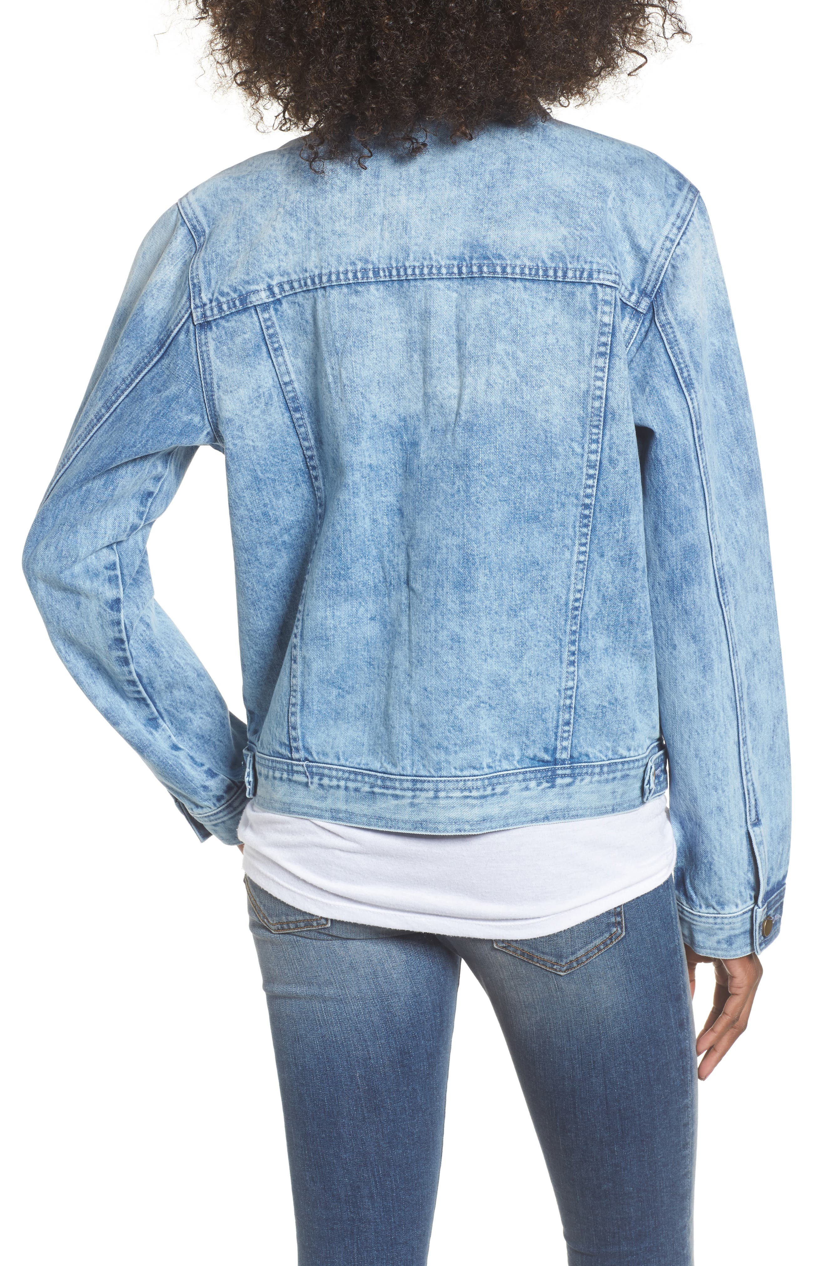 Star & Stud Denim Jacket,                             Alternate thumbnail 2, color,                             Blue